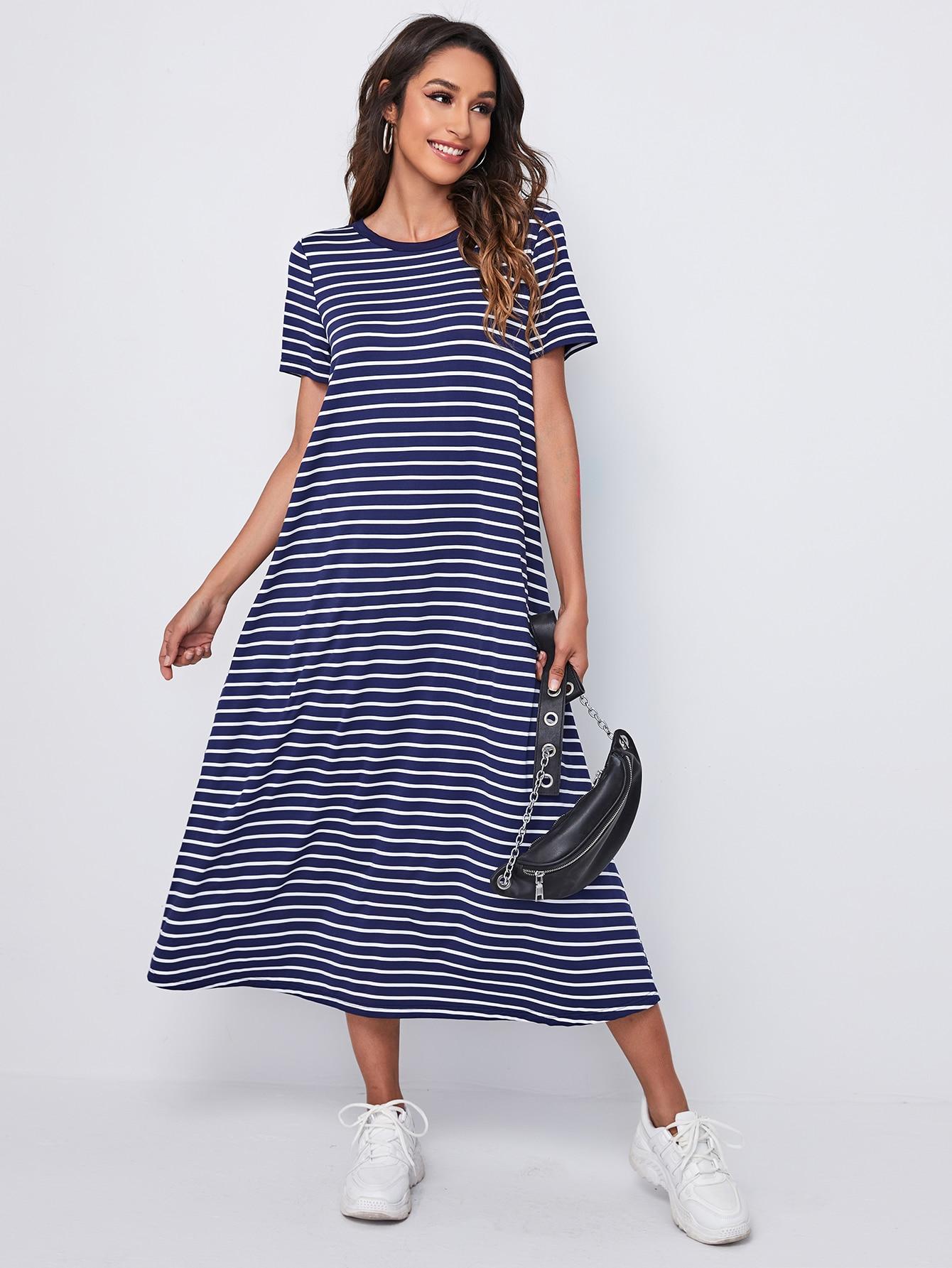 Striped Tee Dress thumbnail