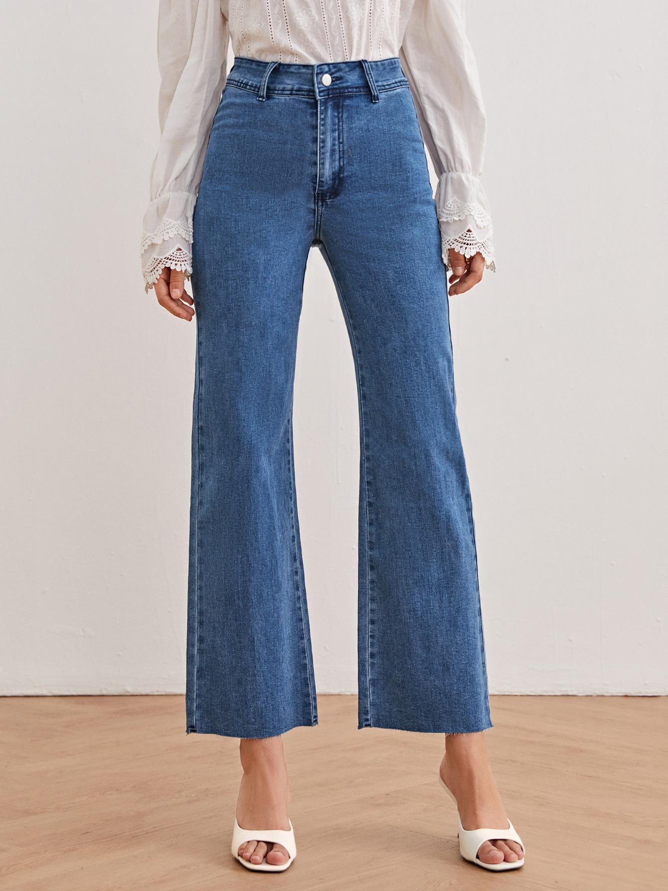 High Waist Solid Jeans thumbnail