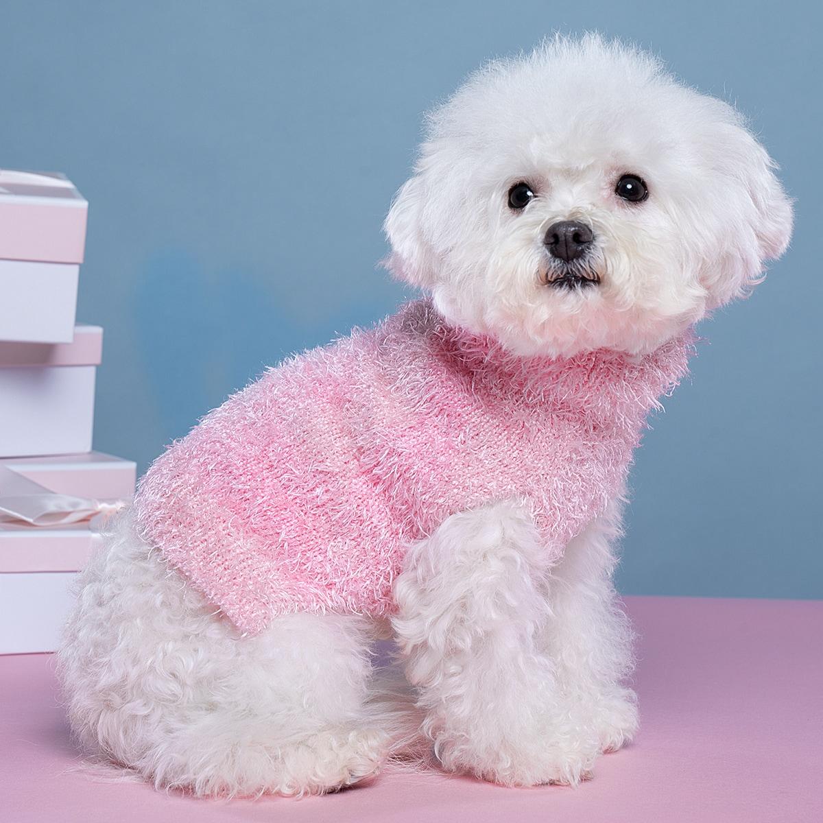 Solid Turtleneck Pet Sweater