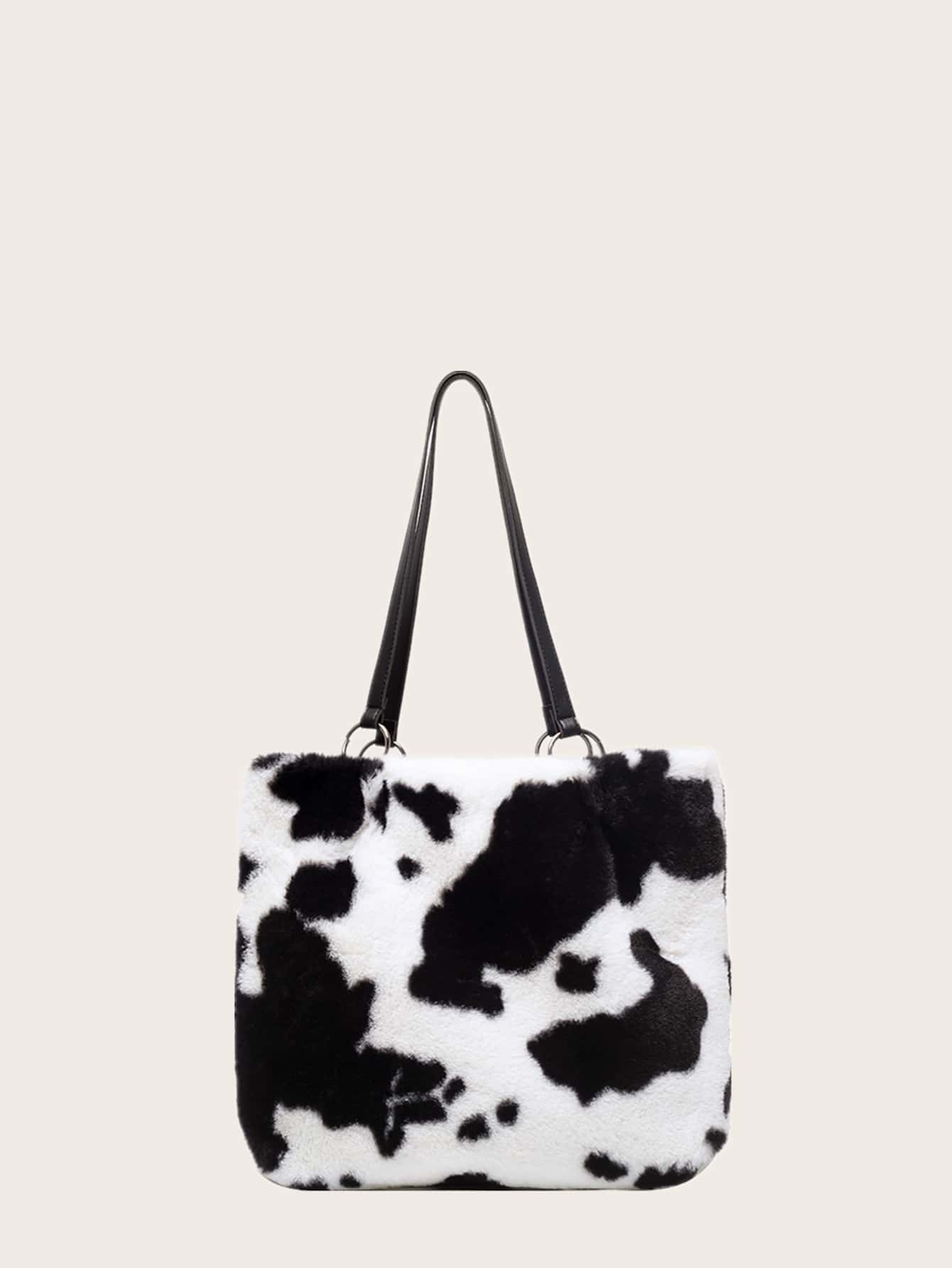 Fluffy Cow Pattern Tote Bag thumbnail