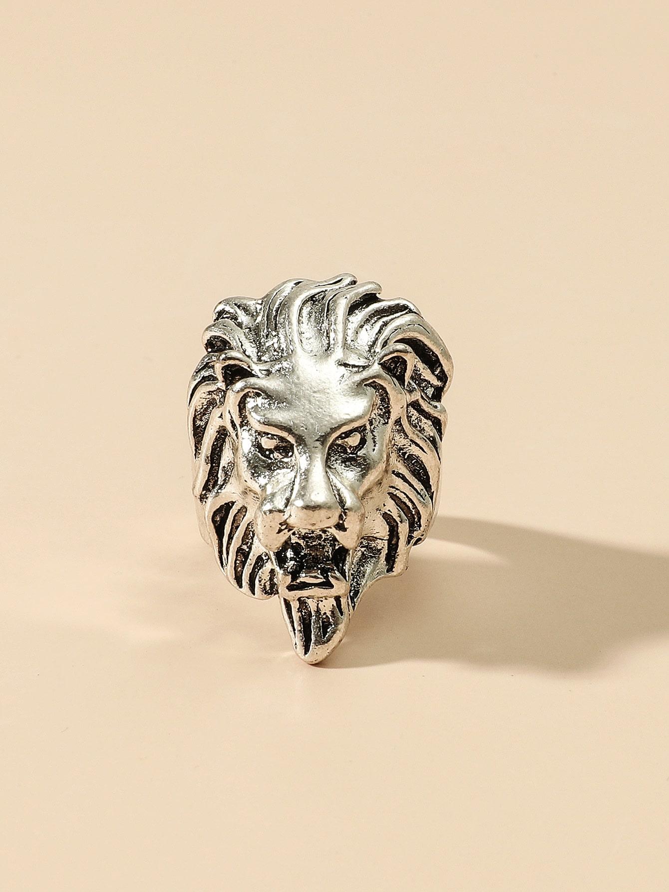 Lion Head Design Ring thumbnail