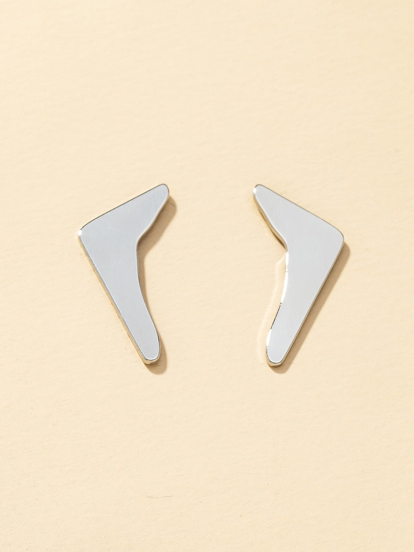 Solid Metallic Stud Earrings thumbnail