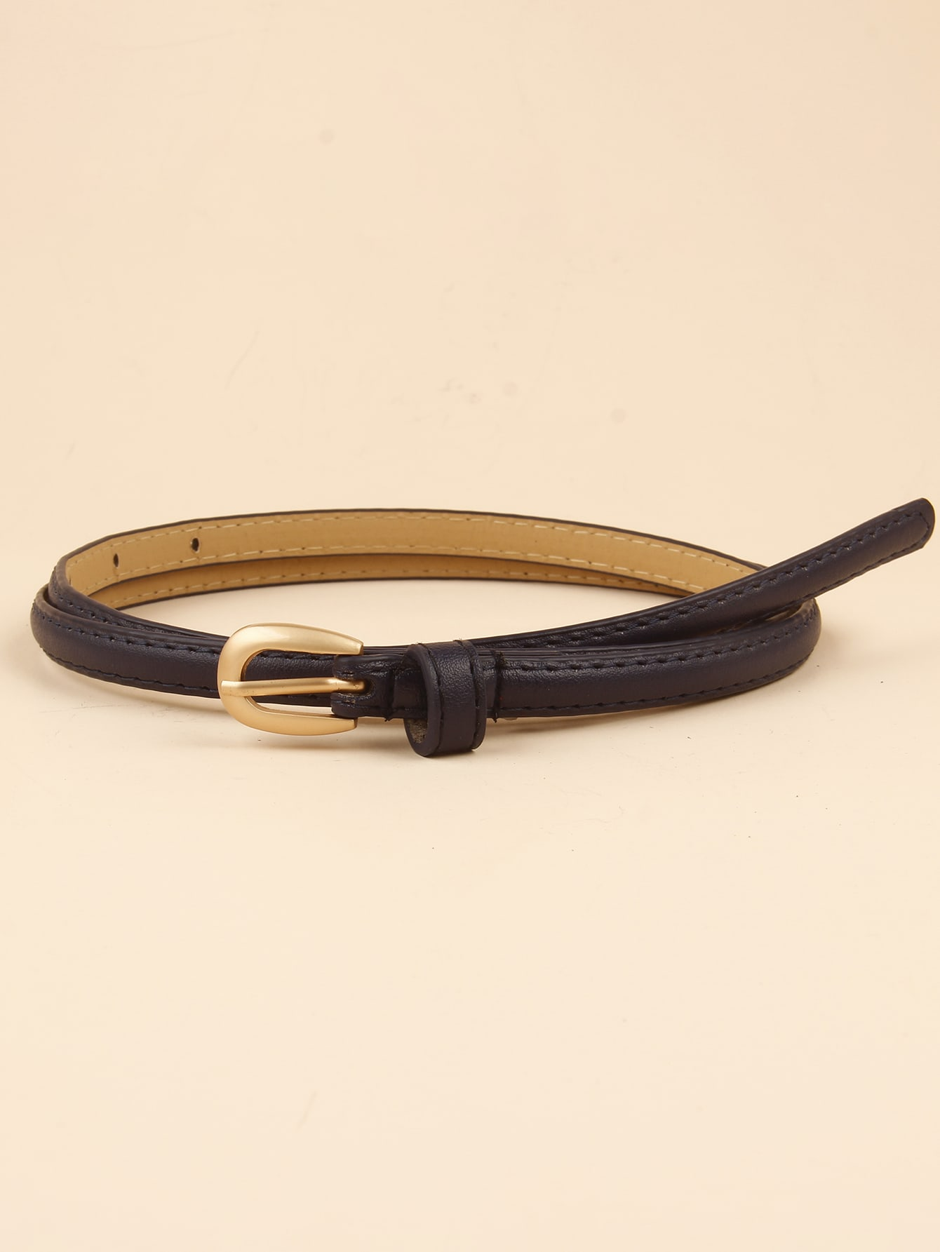 Gold Buckle Skinny Belt thumbnail