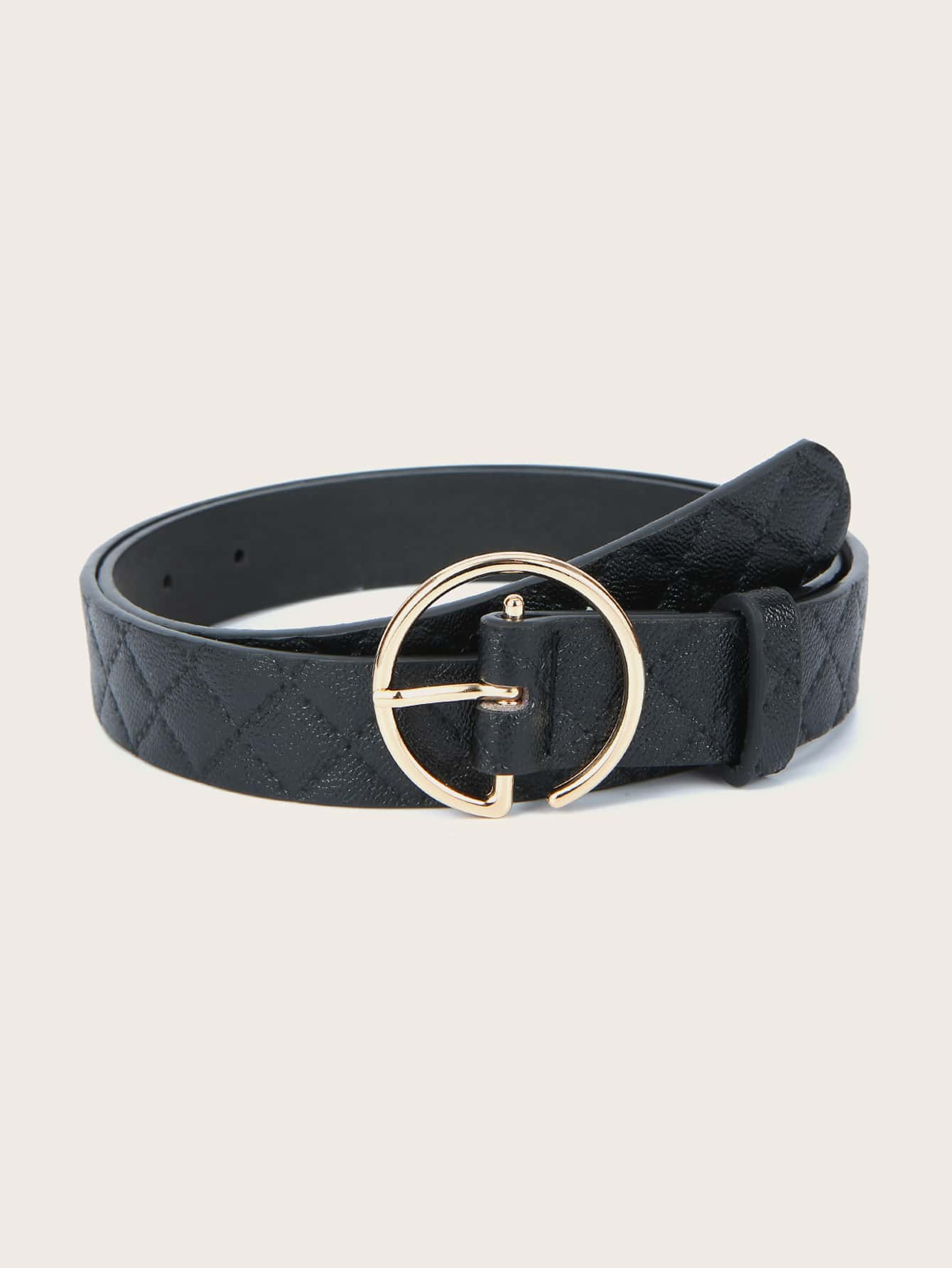 Stitched Metal Buckle Belt thumbnail