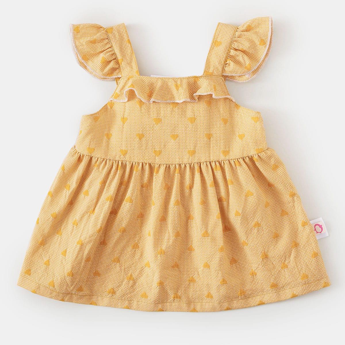shein Schattig Hart Baby-jurk Rimpeling