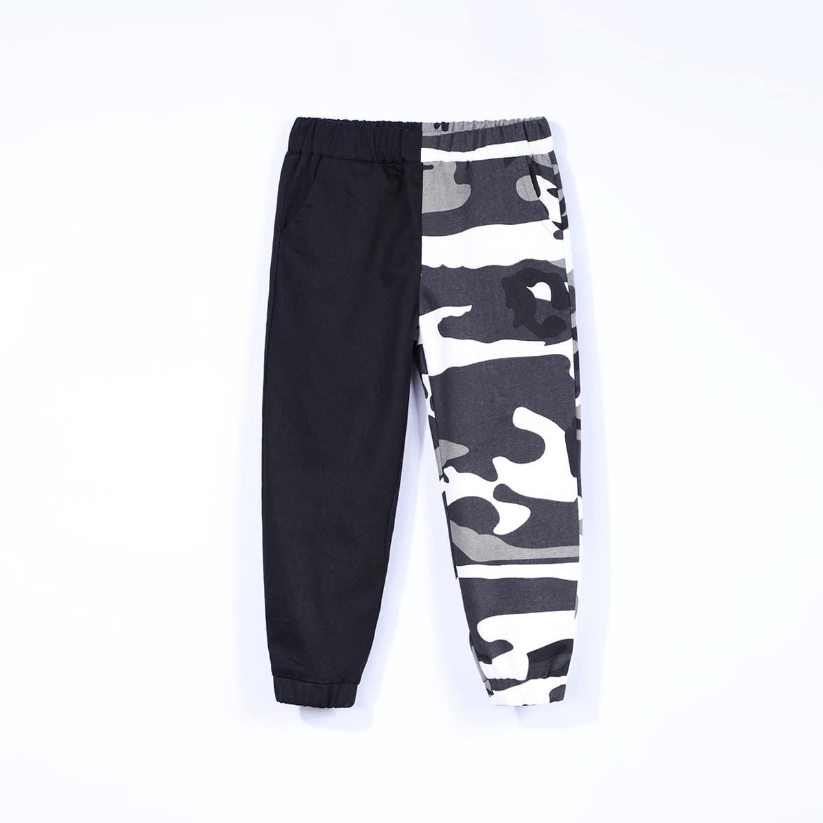 Контрастный повседневный брюки для мальчиков