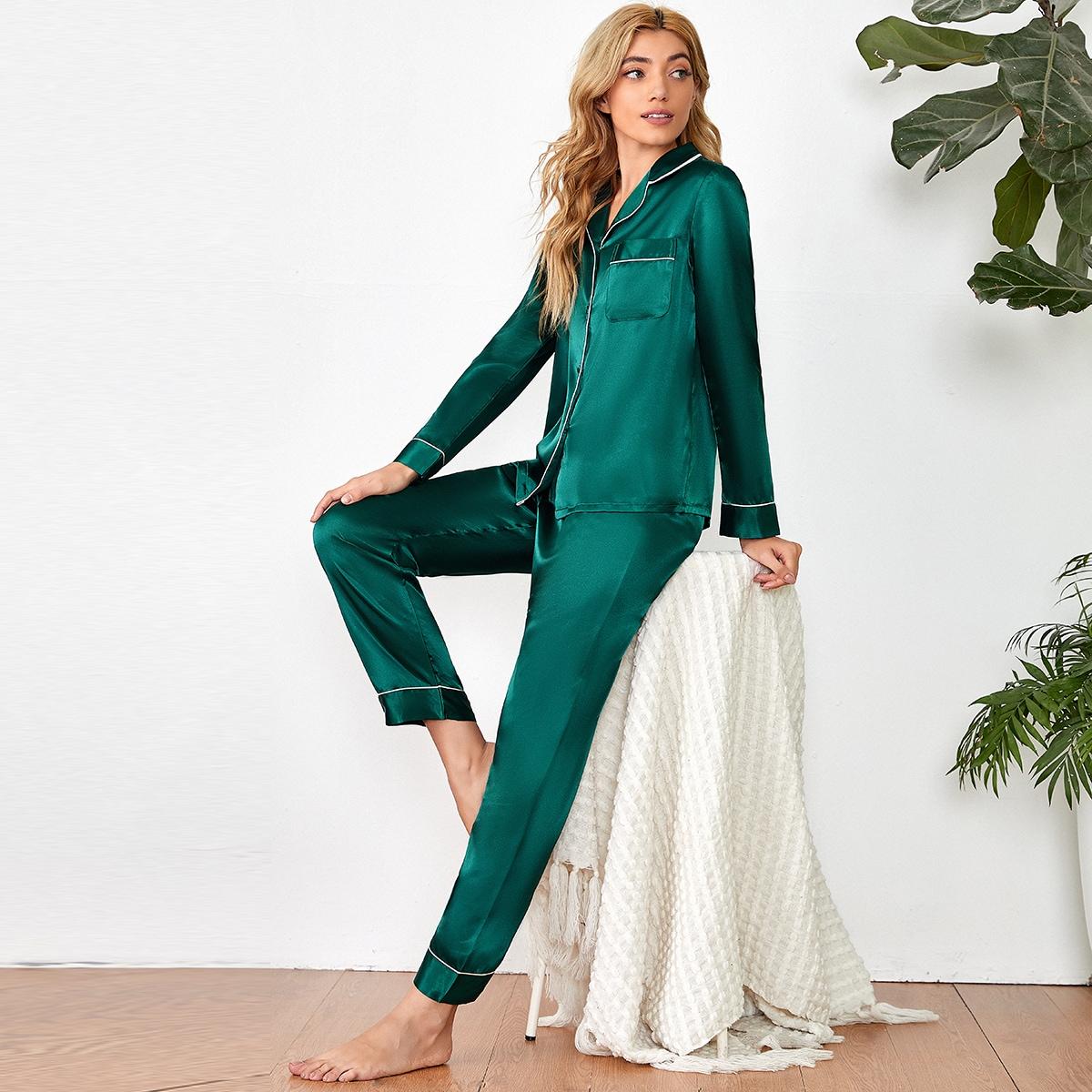 с карманами Элегантный Комплект пижамы