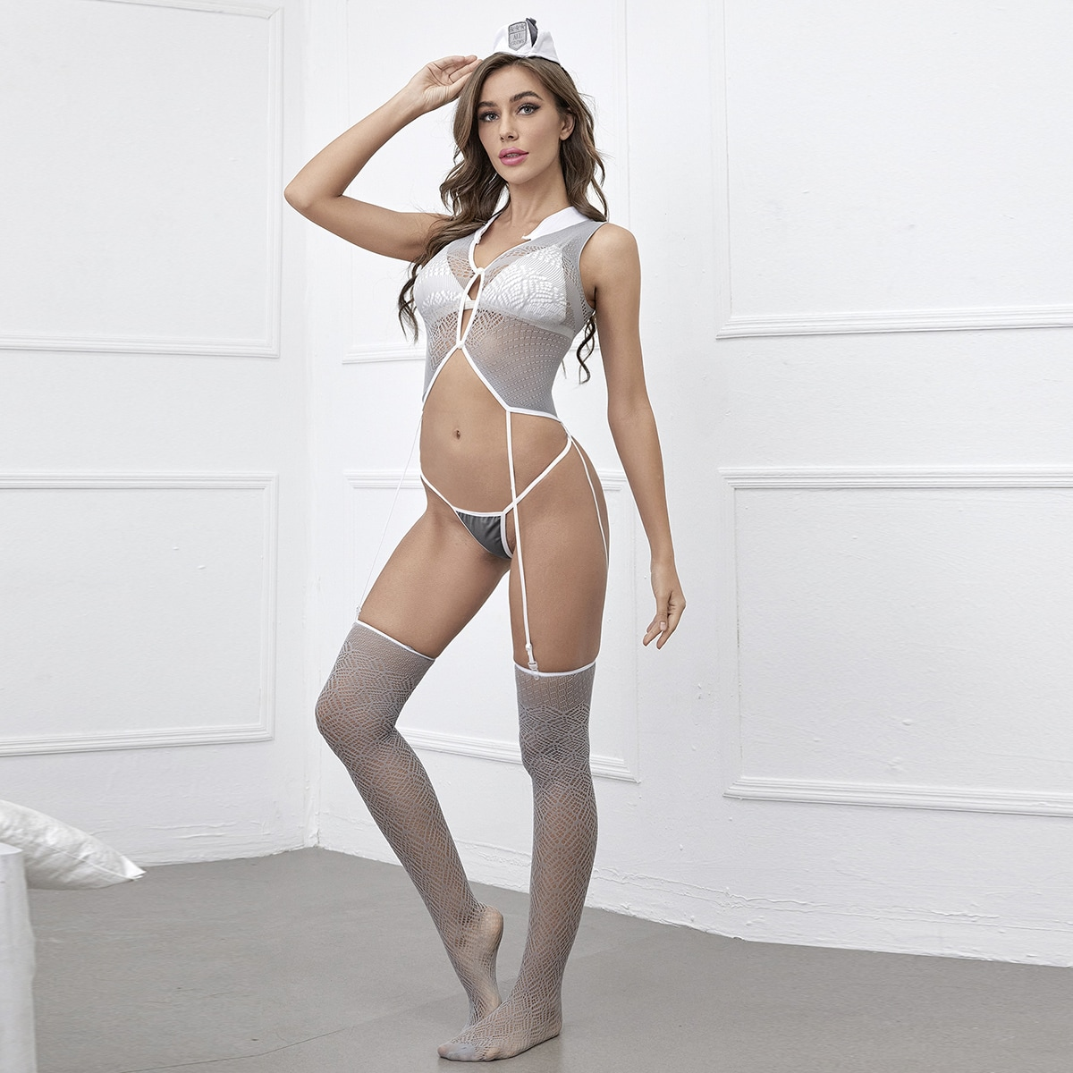 4pack Sheer Mesh Costume Set Without Bra, SHEIN  - buy with discount