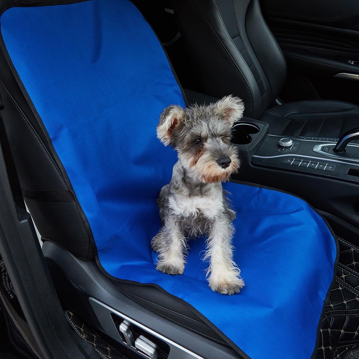 1 Stück Autositzüberzug mit Kontrast-Binde für Haustiere