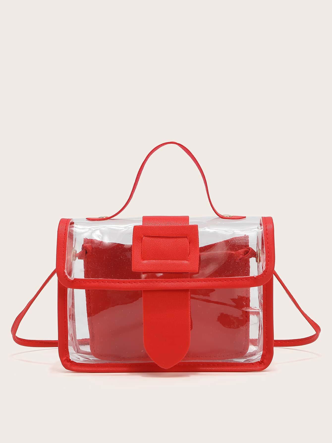 Clear Flap Satchel Bag thumbnail