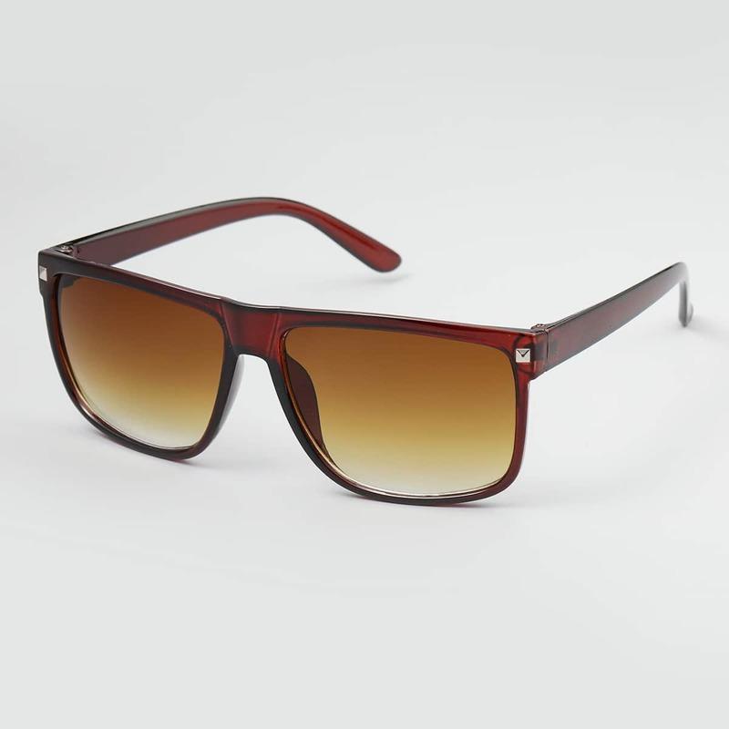 Guys Square Frame Sunglasses, Brown