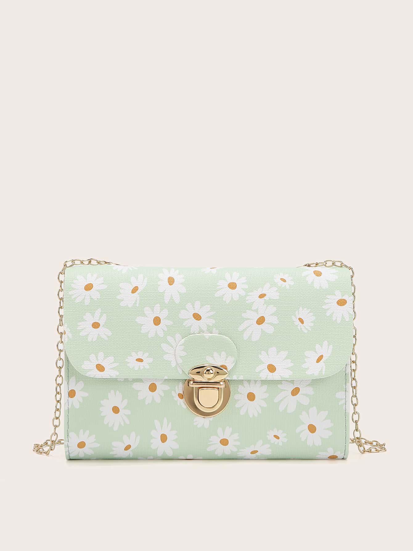 Push Lock Daisy Graphic Square Bag thumbnail