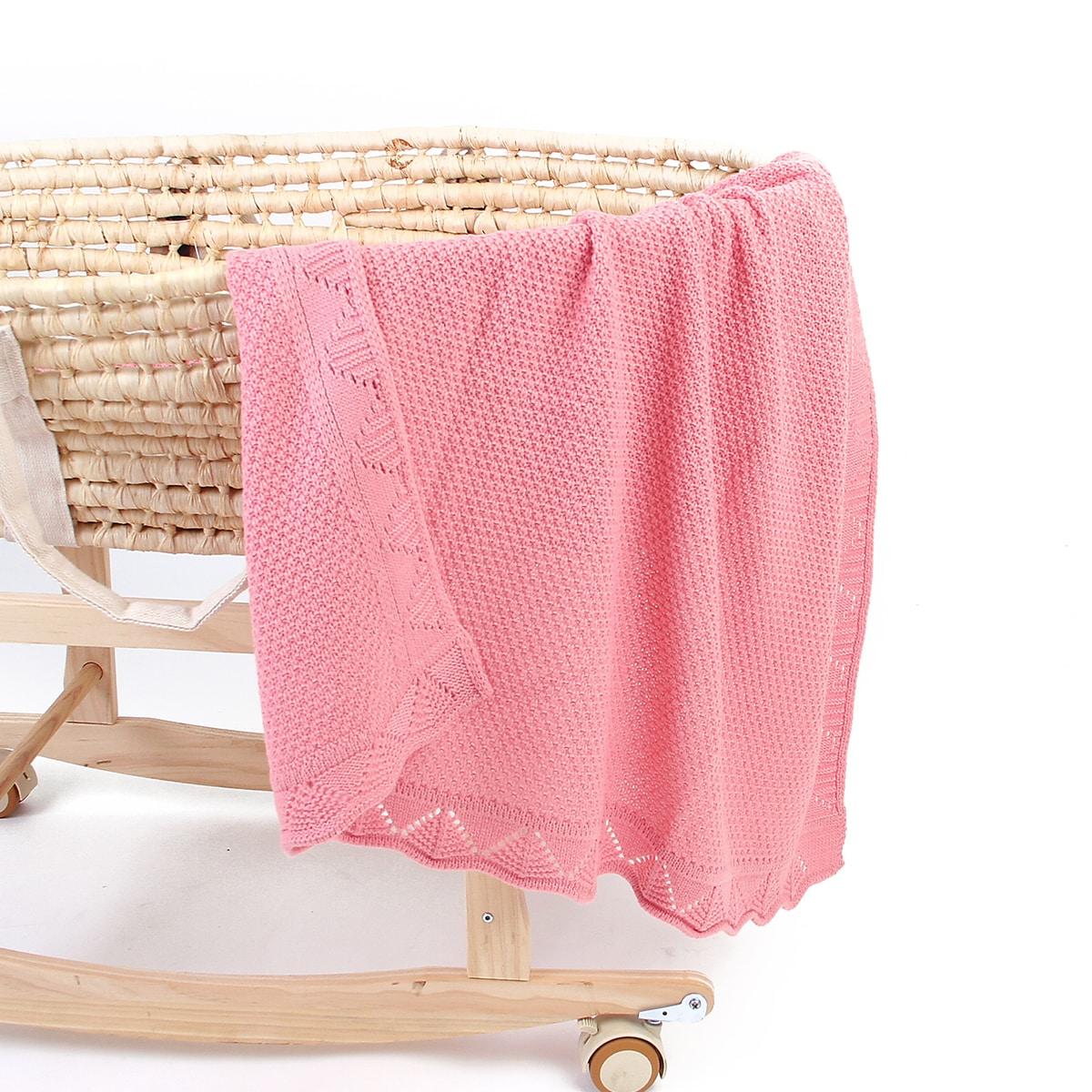 Детское трикотажное одеяло с фестончатым краем