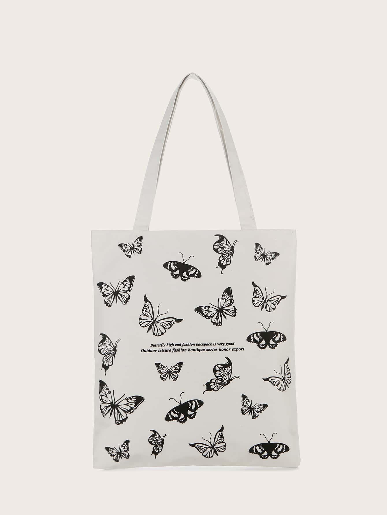 Butterfly Graphic Shopper Bag thumbnail