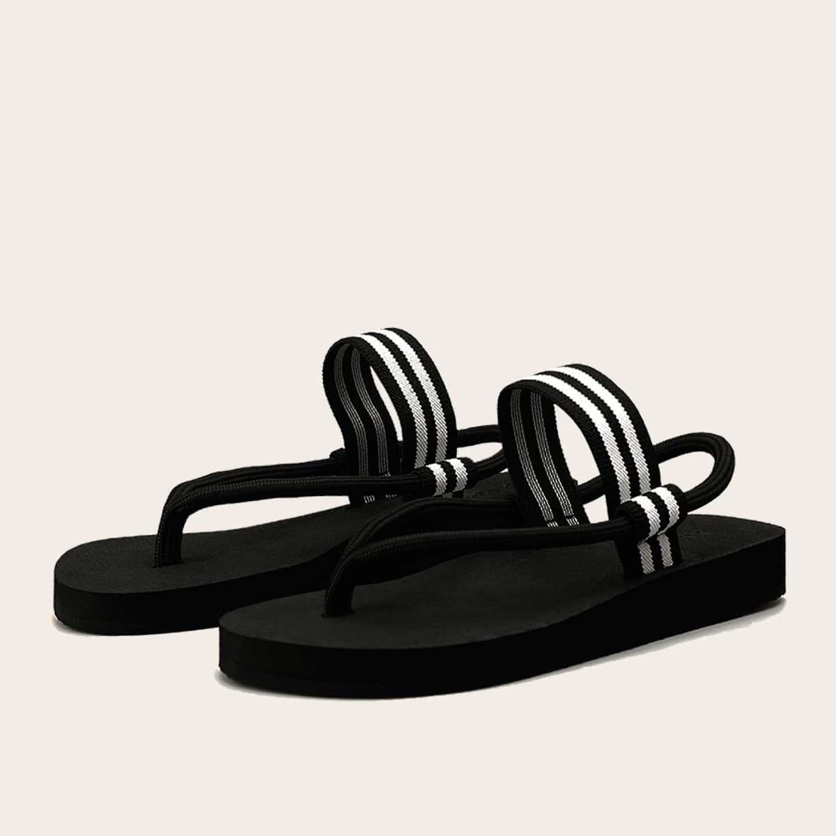 Мужские сандалии в полоску