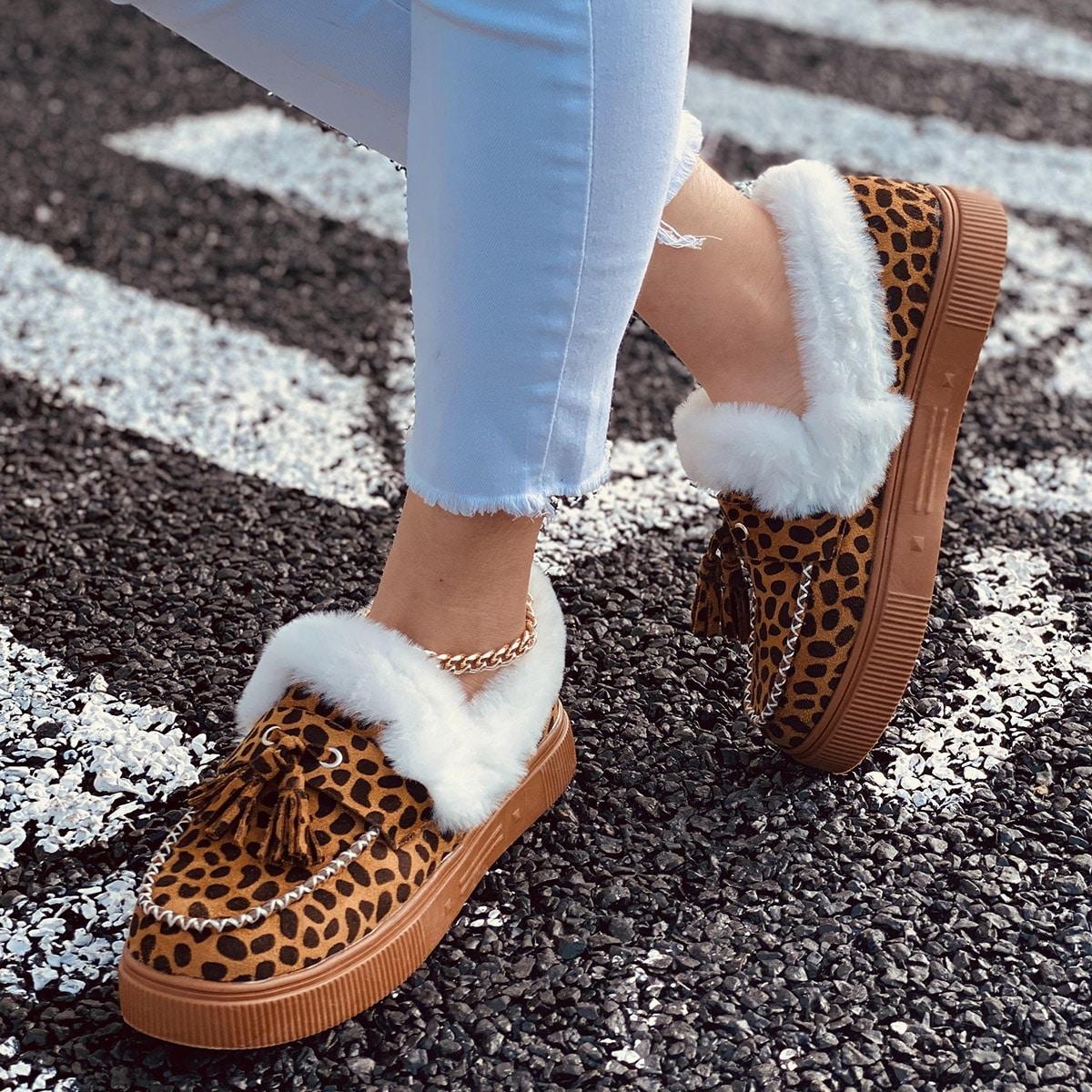 Tassel Decor Plush Lined Snow Boots