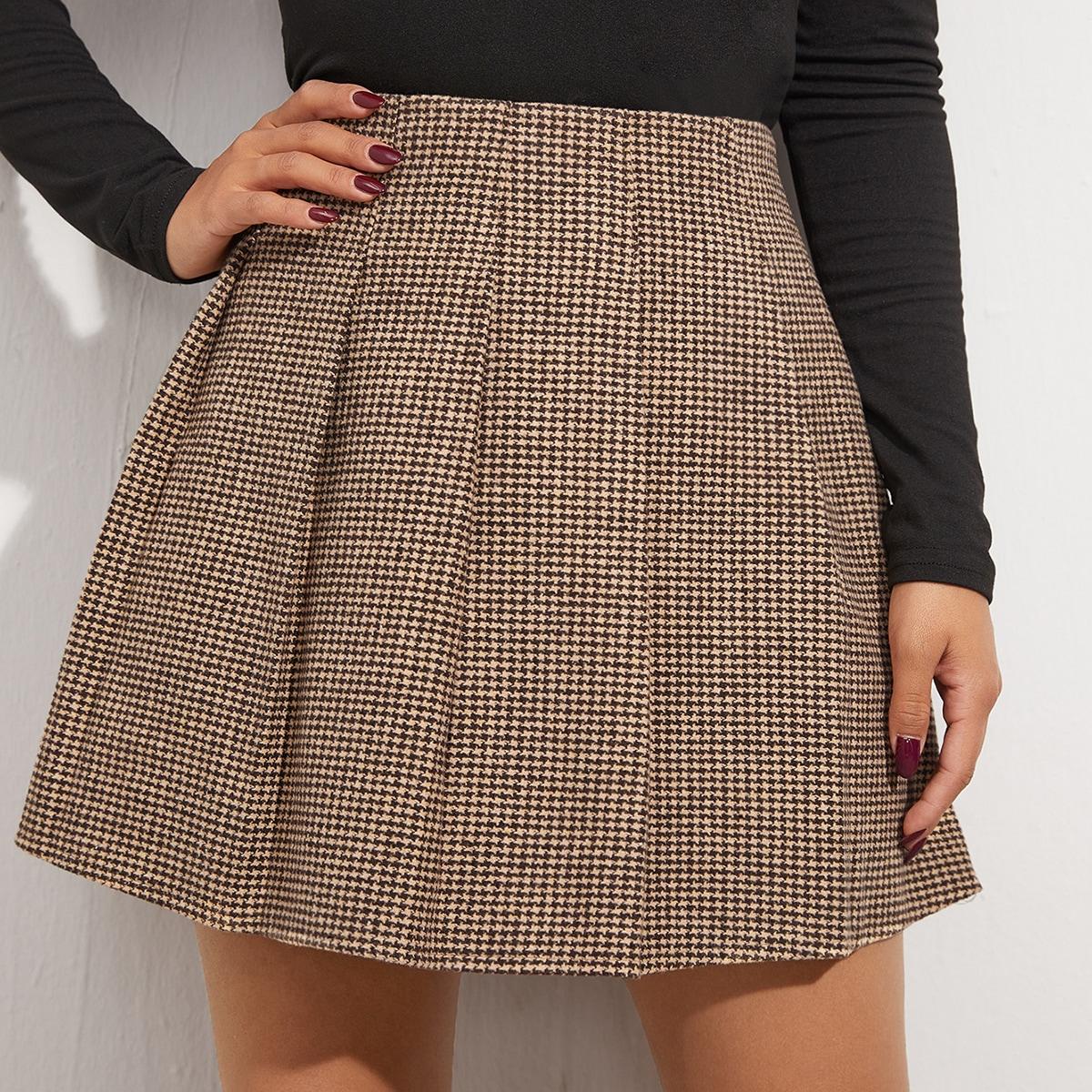 Плиссированная юбка вгусинуюлапку
