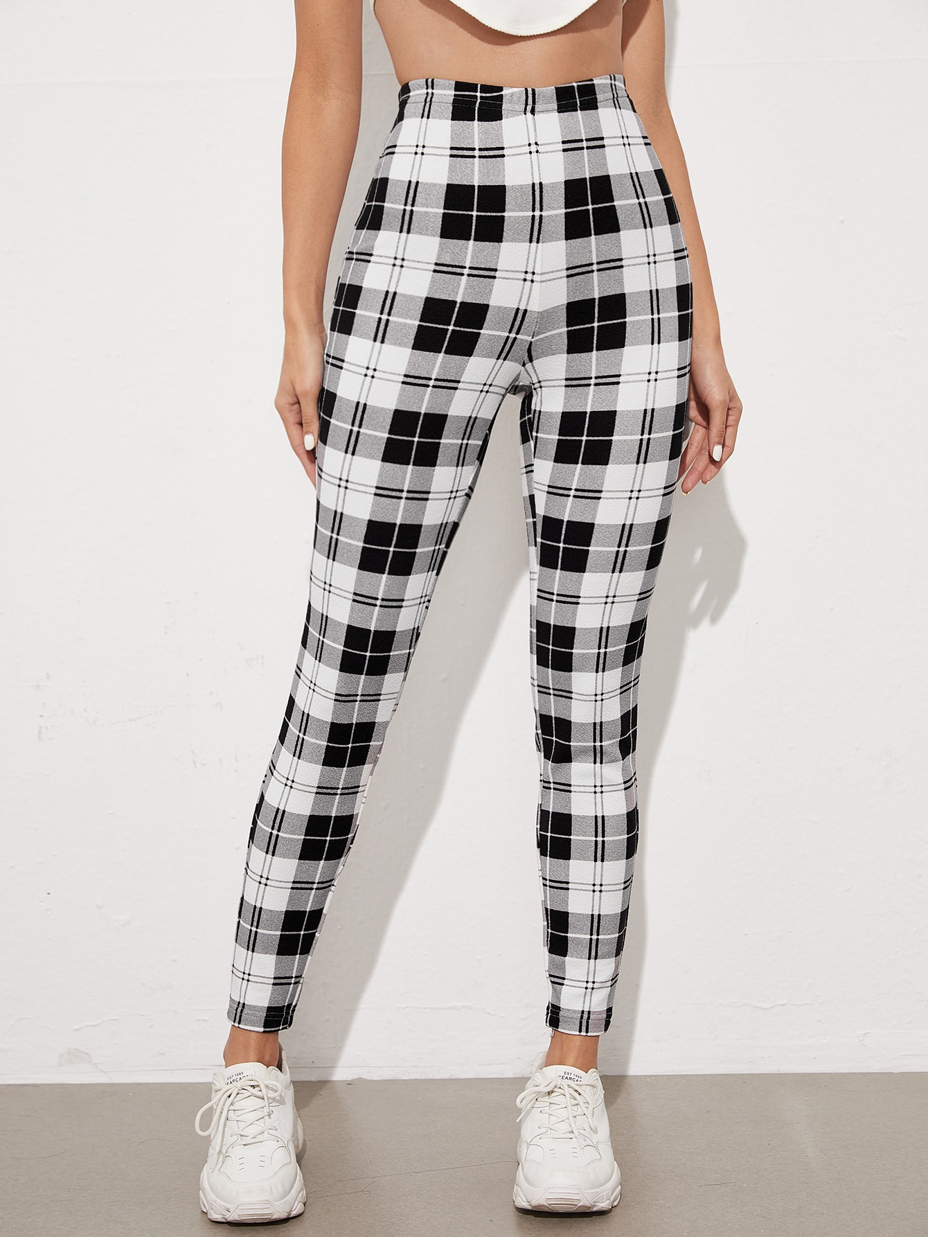High Waist Plaid Leggings thumbnail