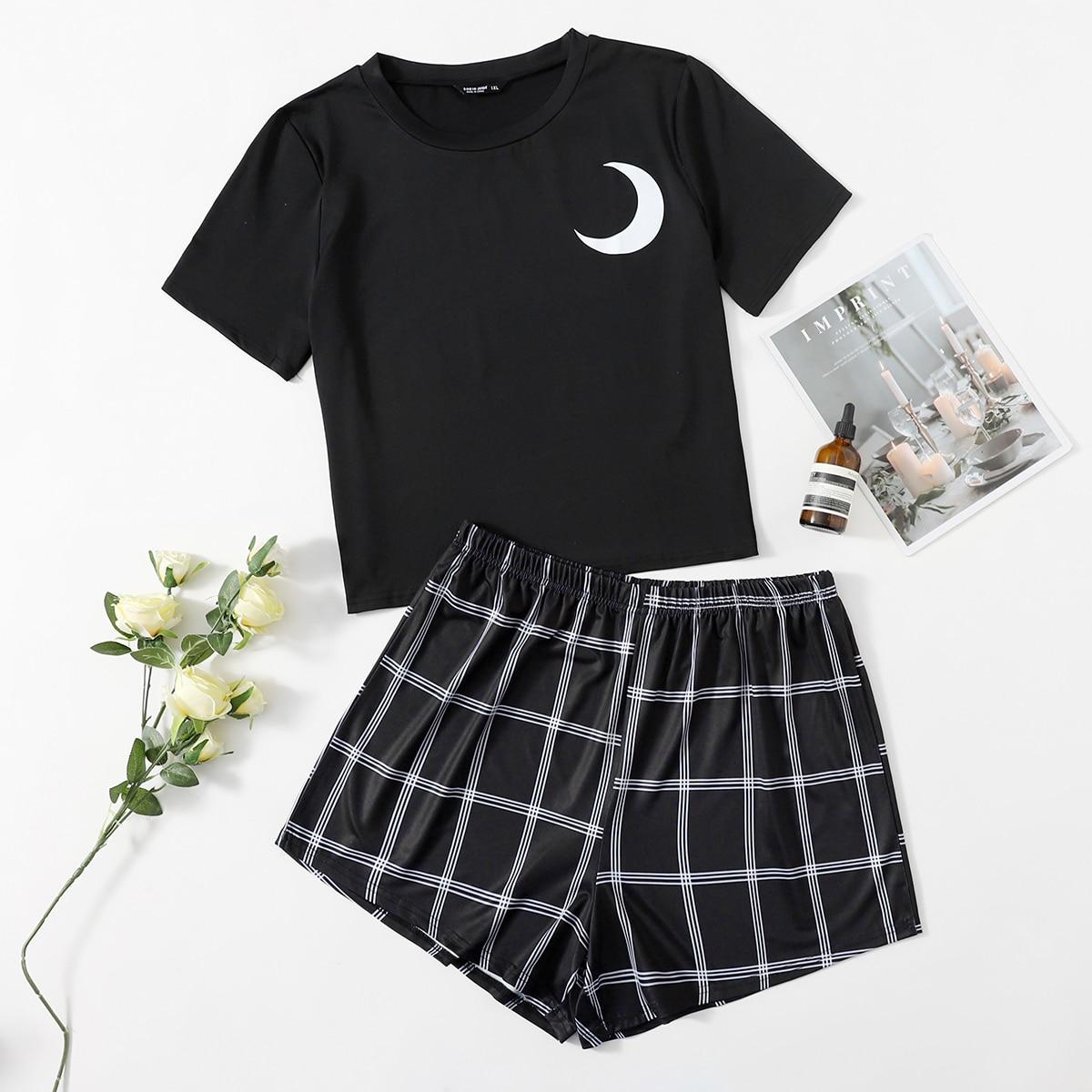 shein Schattig Gevlochten Grote maten pyjama sets