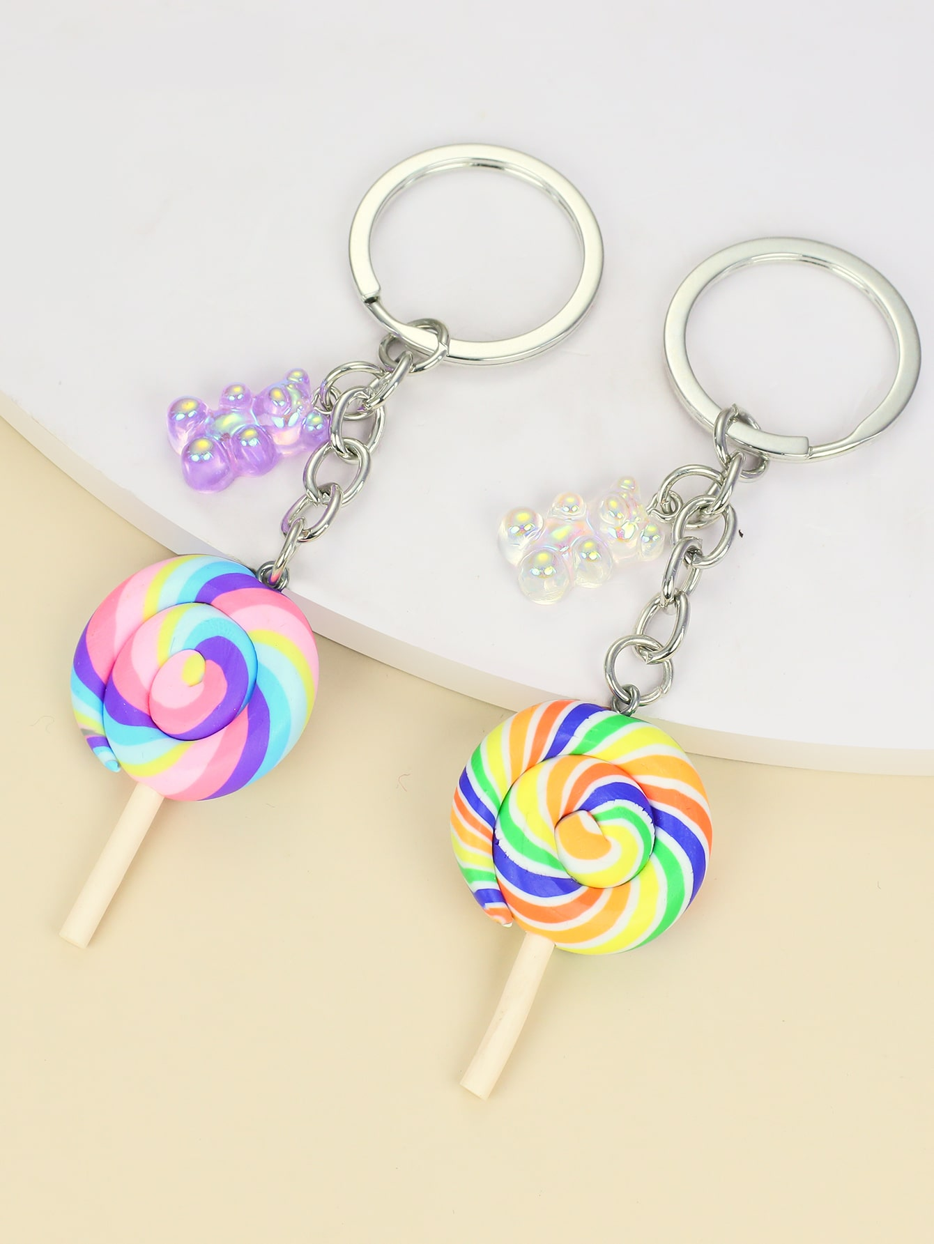 2pcs Lollipop Charm Keychain thumbnail