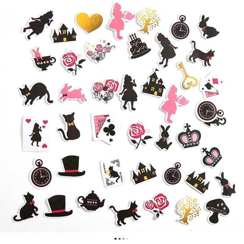 36pcs Figure & Cat Pattern Sticker, Multicolor