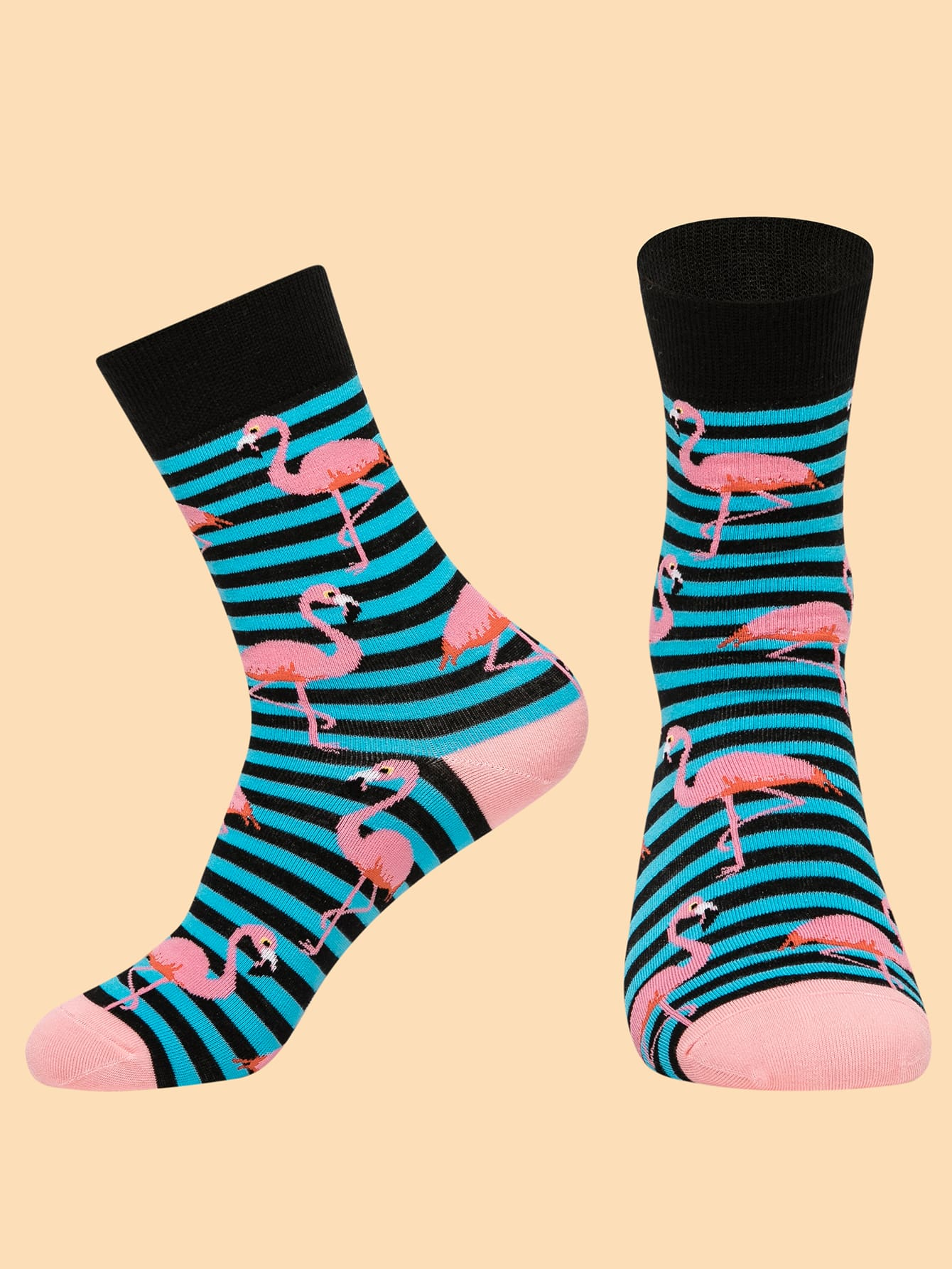 Flamingo Pattern Socks thumbnail