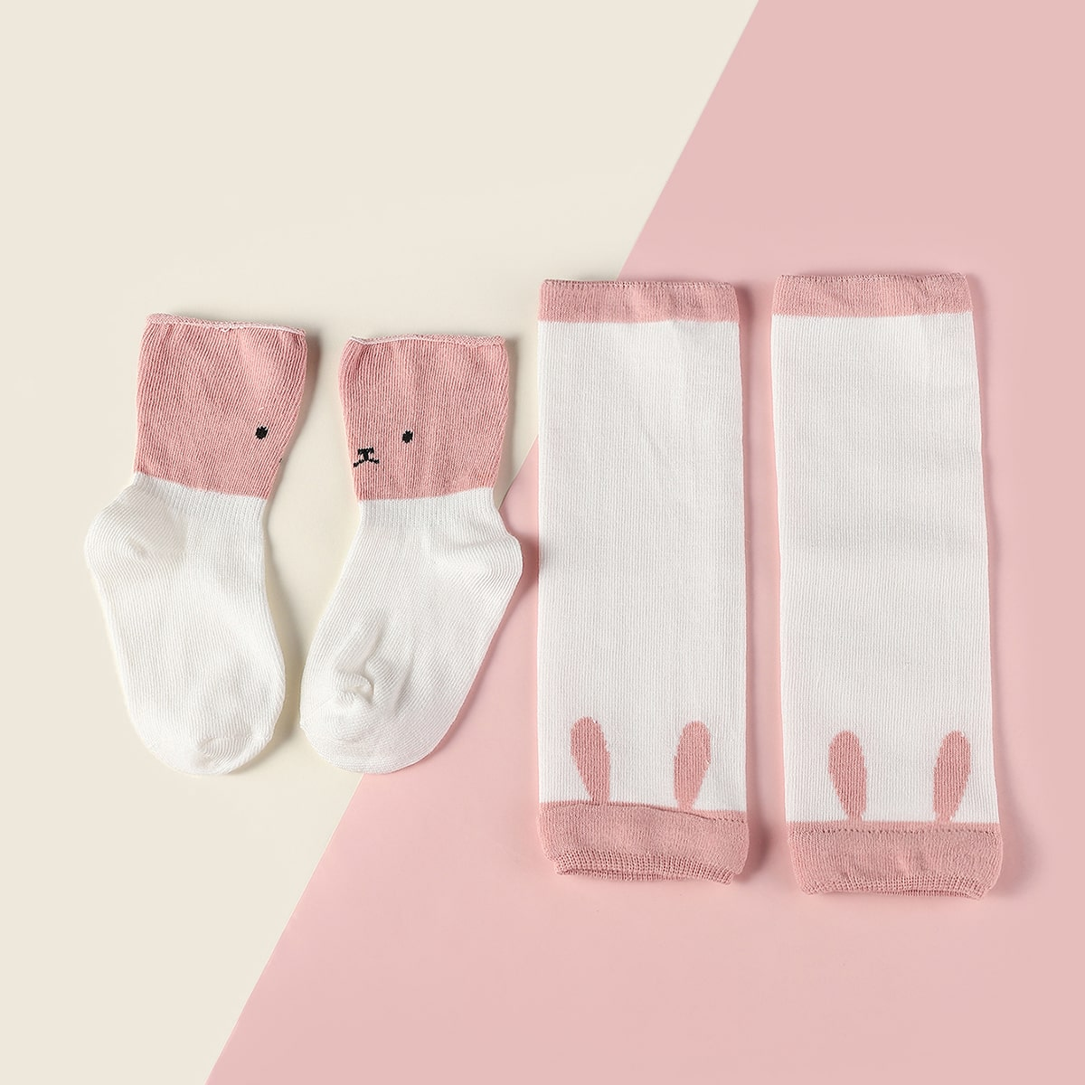 1pair Baby Socks & 1pair Leg Warmers