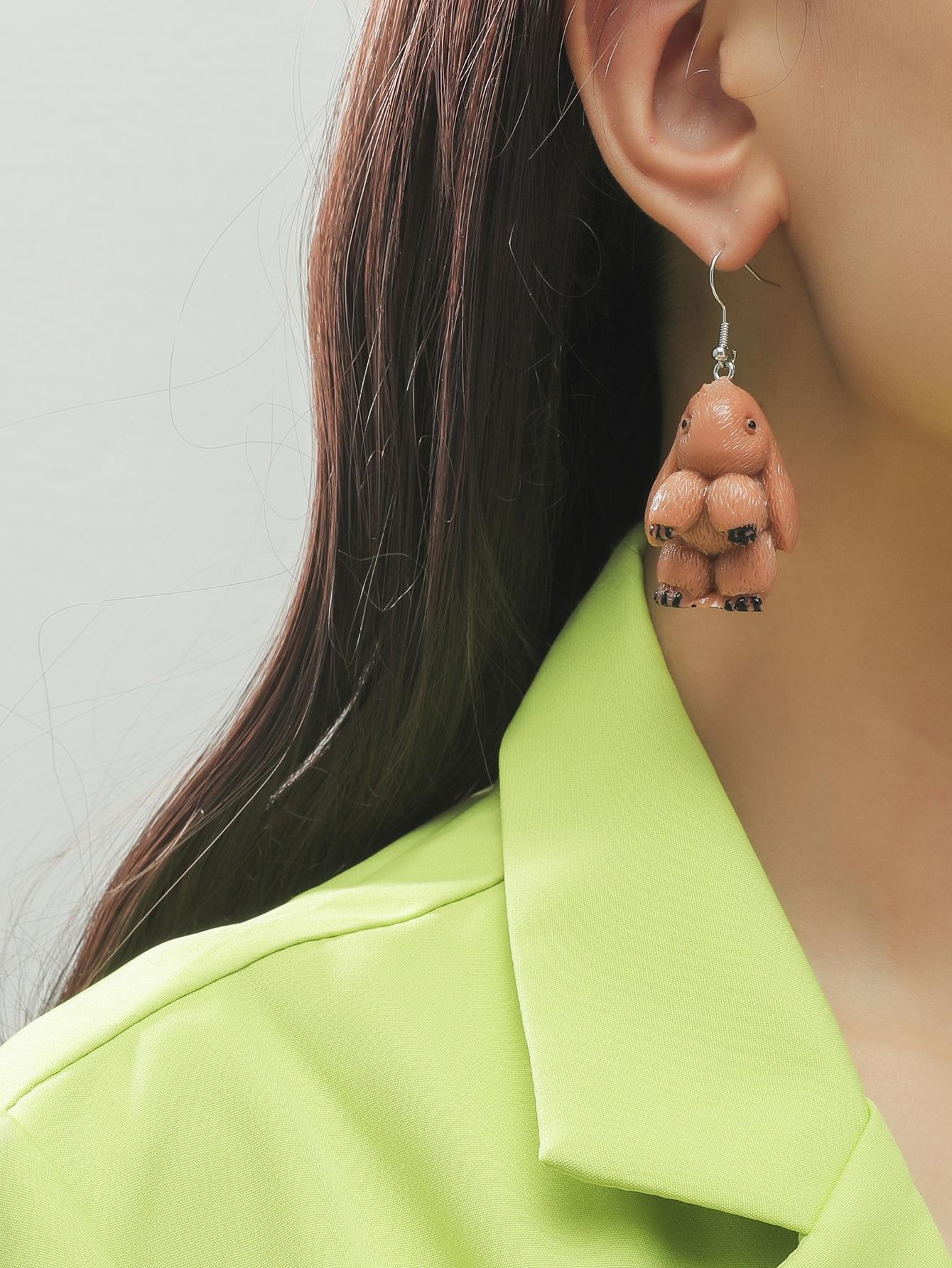 Rabbit Drop Earrings thumbnail