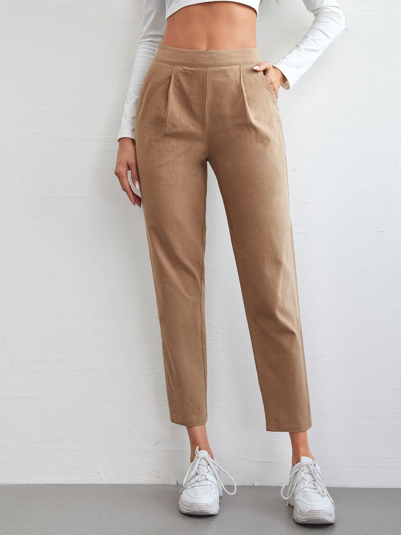 Fold Pleated Solid Pants thumbnail