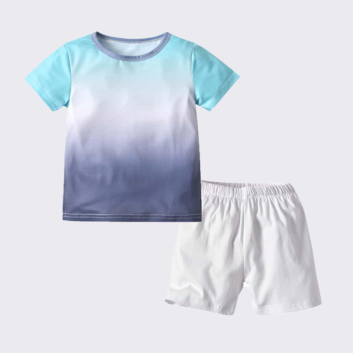 градиент цветовой Повседневный Домашняя одежда для мальчиков