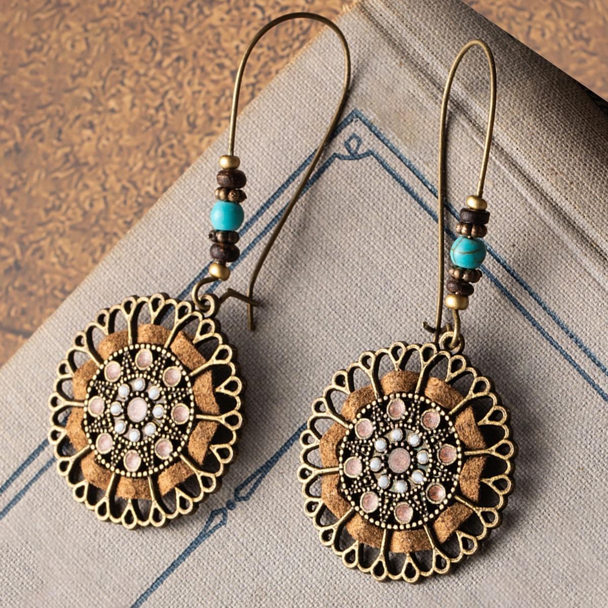 Bohemian Round Drop Earrings, SHEIN  - buy with discount