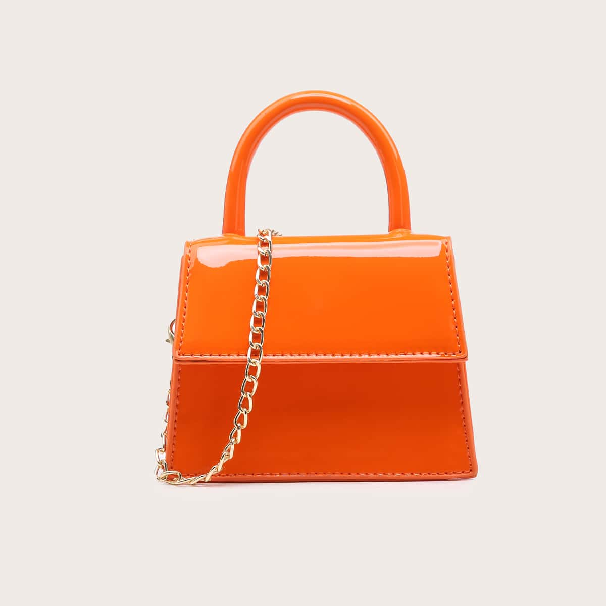 Flap Satchel Bag, SHEIN  - buy with discount