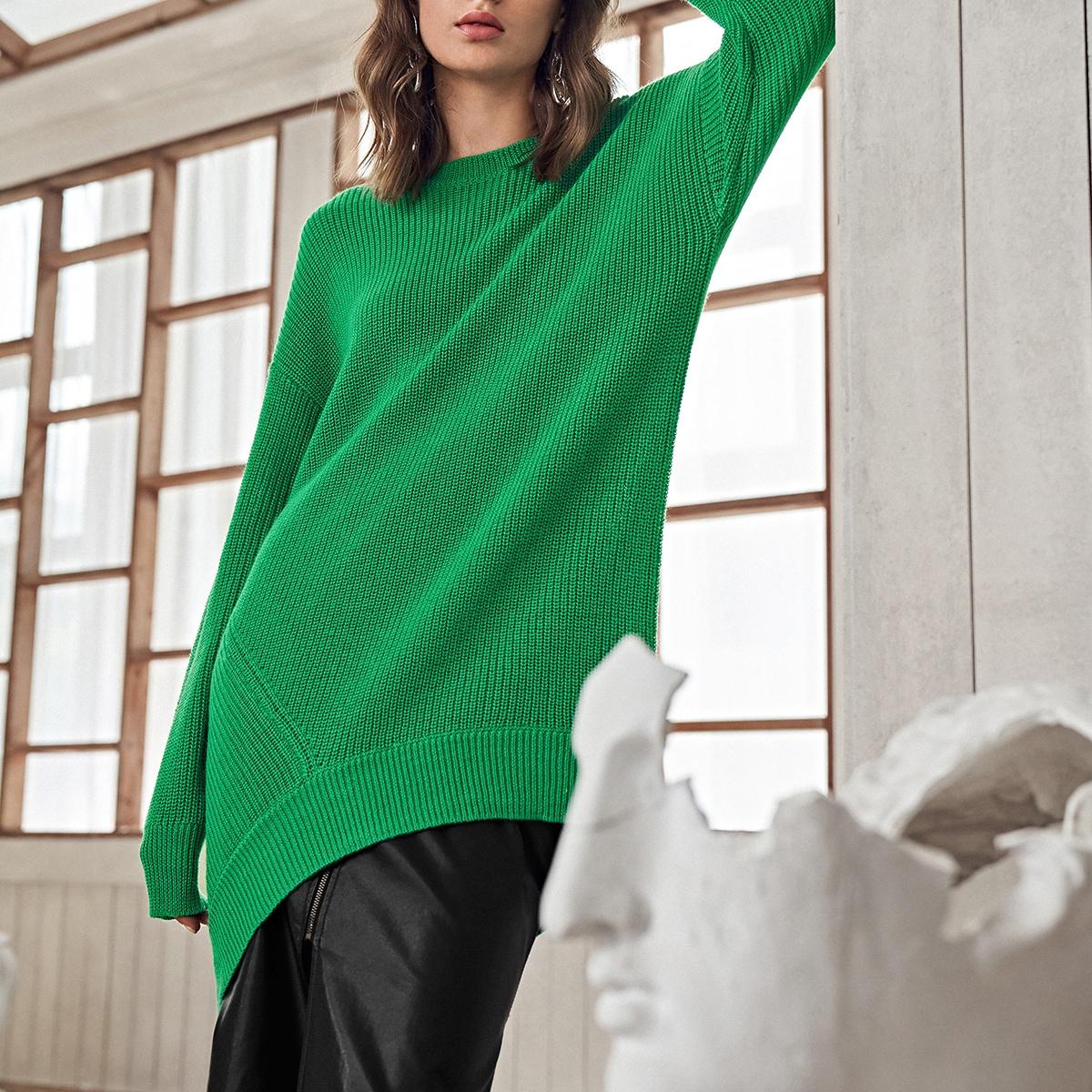 Асимметричный свитер из смесовой шерсти