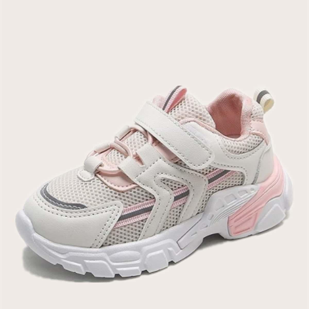 Контрастные сетчатые кроссовки для девочек от SHEIN