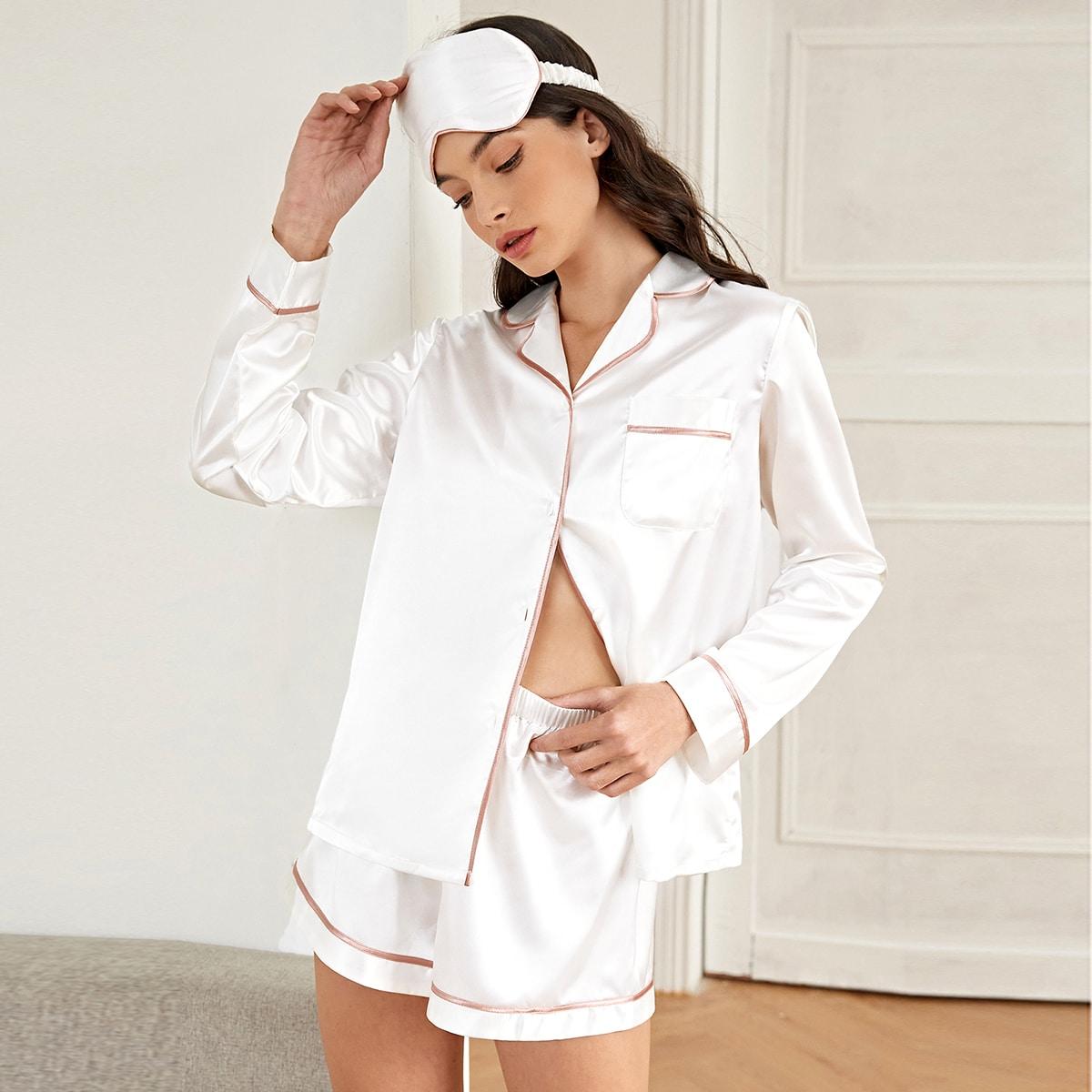 с карманами Минимализм Комплект пижамы