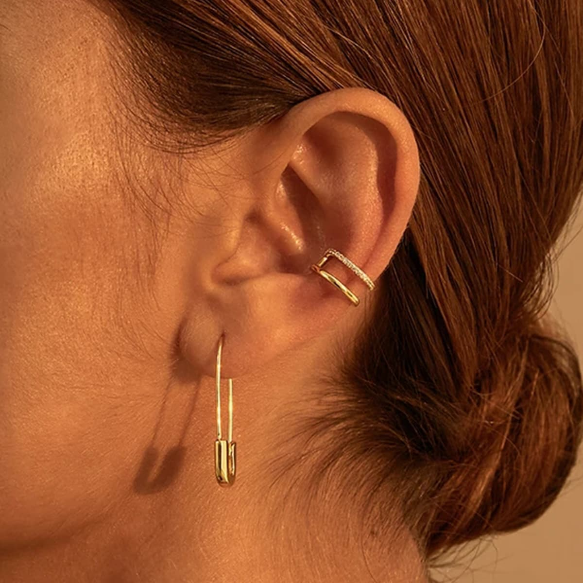 Safety Pin Decor Ear Cuff, SHEIN  - buy with discount