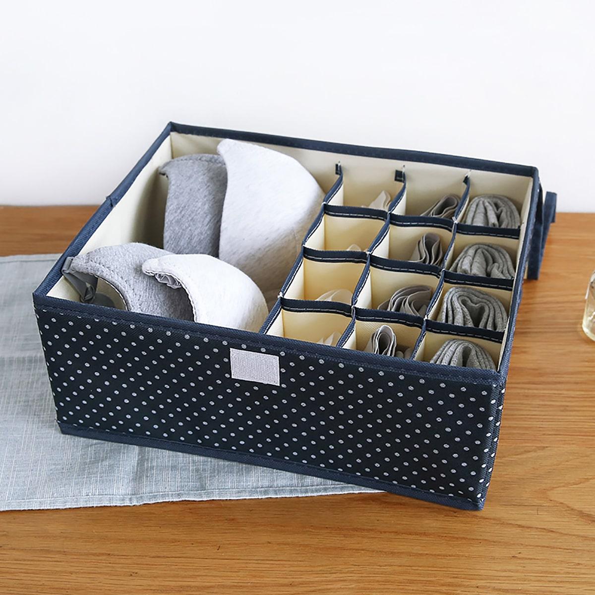 Ящик для хранения носков с принтом