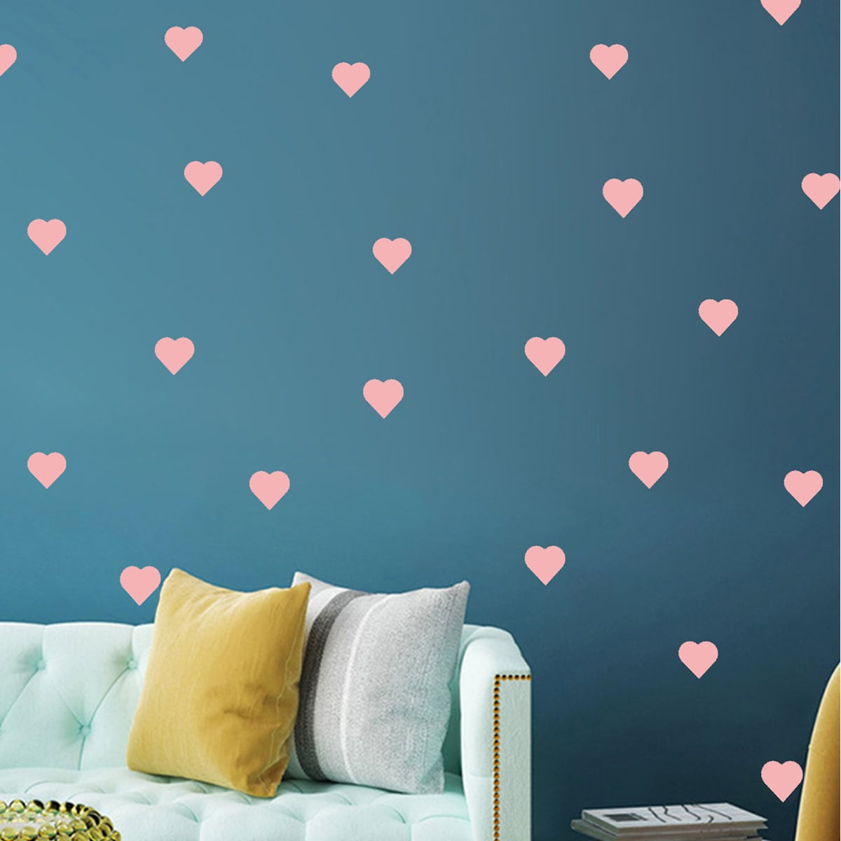 2sheets Kids Heart Print Wall Sticker, SHEIN  - buy with discount