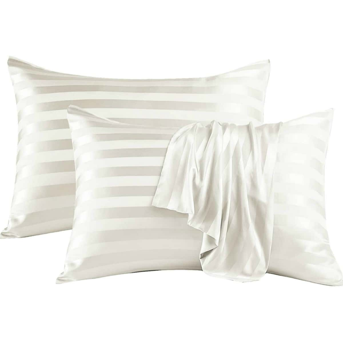 1Pair Contrast Stripe Pillowcase Without Filler