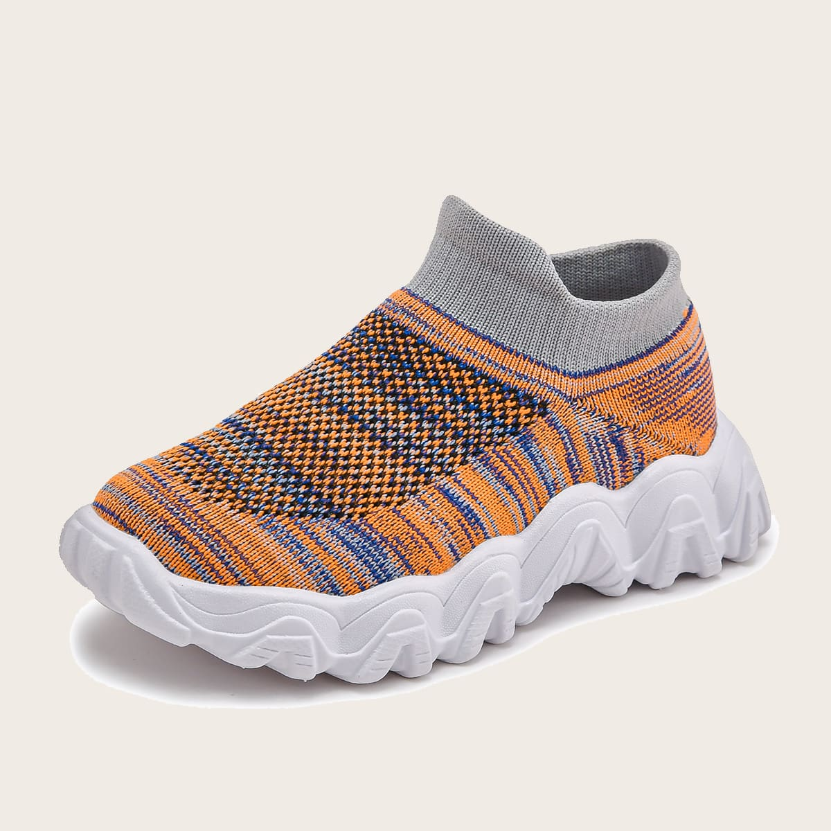 Контрастные трикотажные кроссовки для девочек от SHEIN