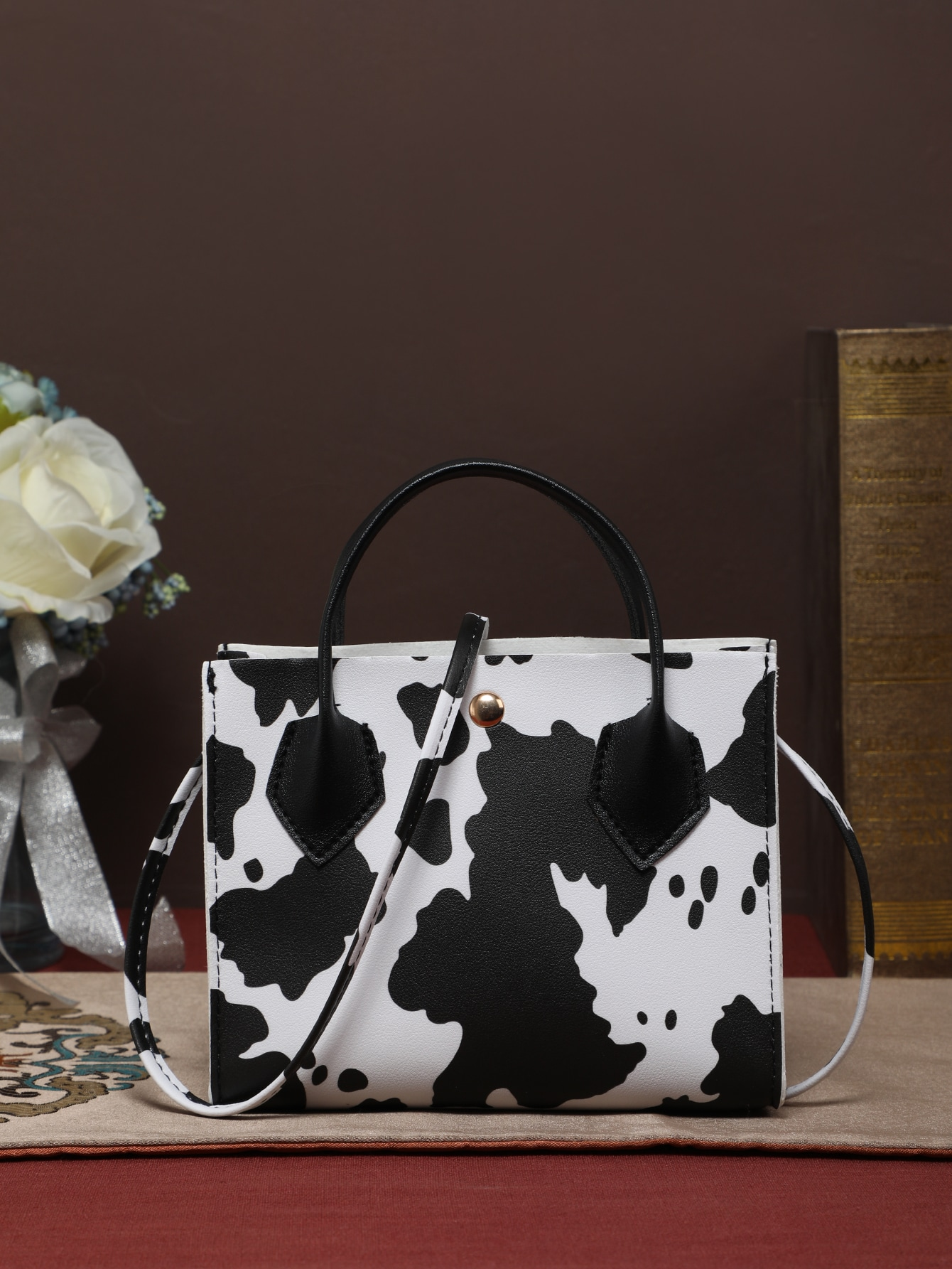 Cow Print Satchel Bag thumbnail