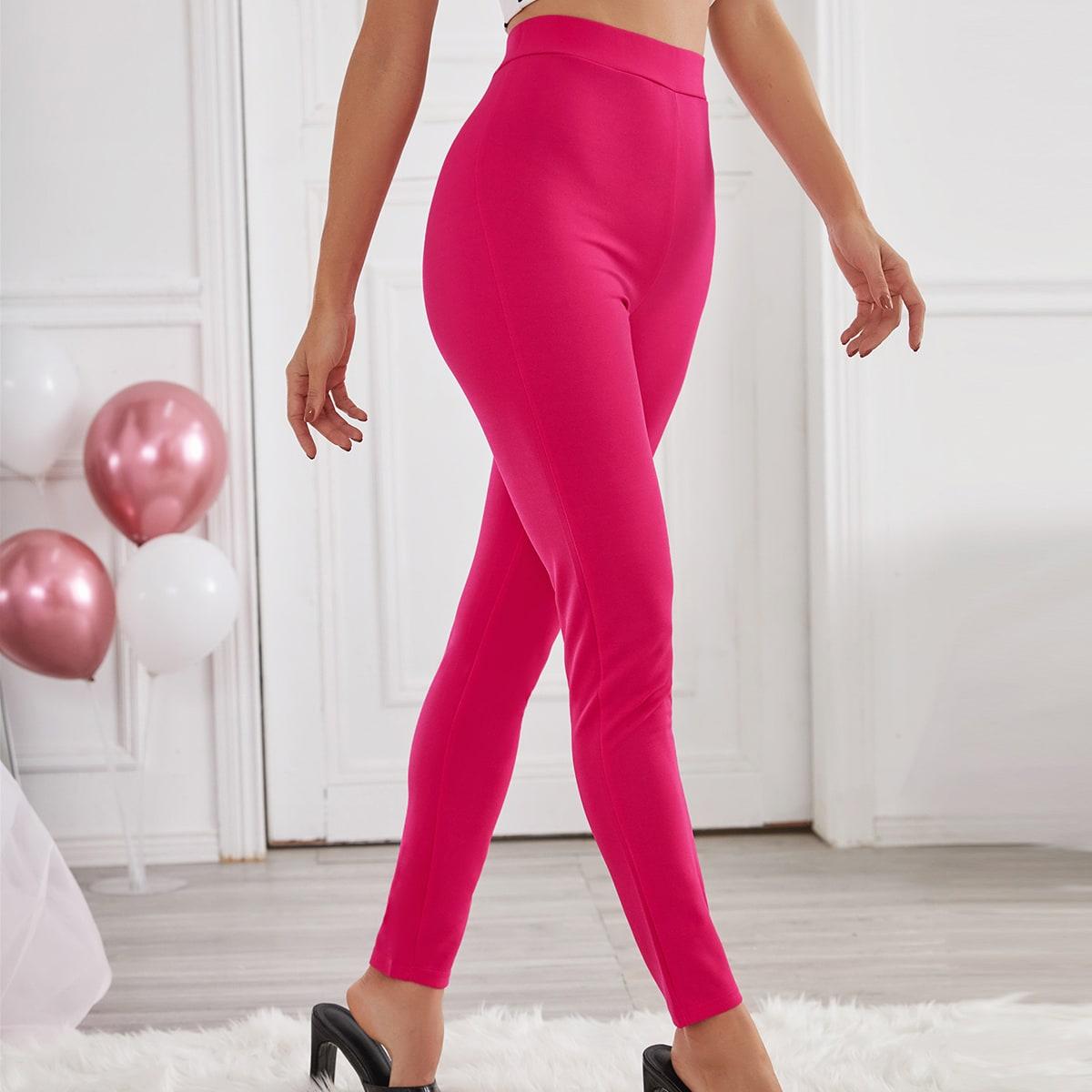 Однотонные узкие брюки