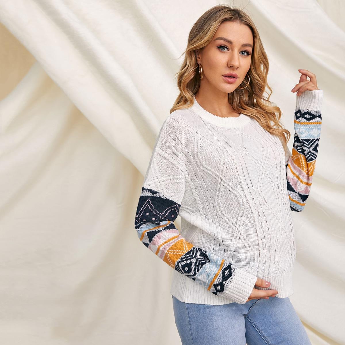 Этнический стиль повседневный свитеры для беременных