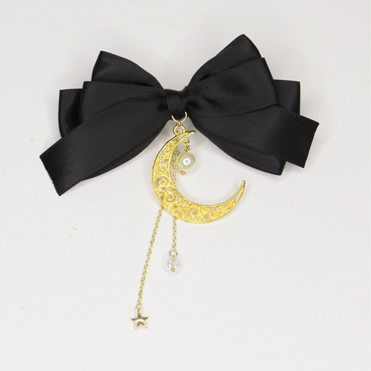 Moon & Bow Decor Hair Clip, SHEIN  - buy with discount