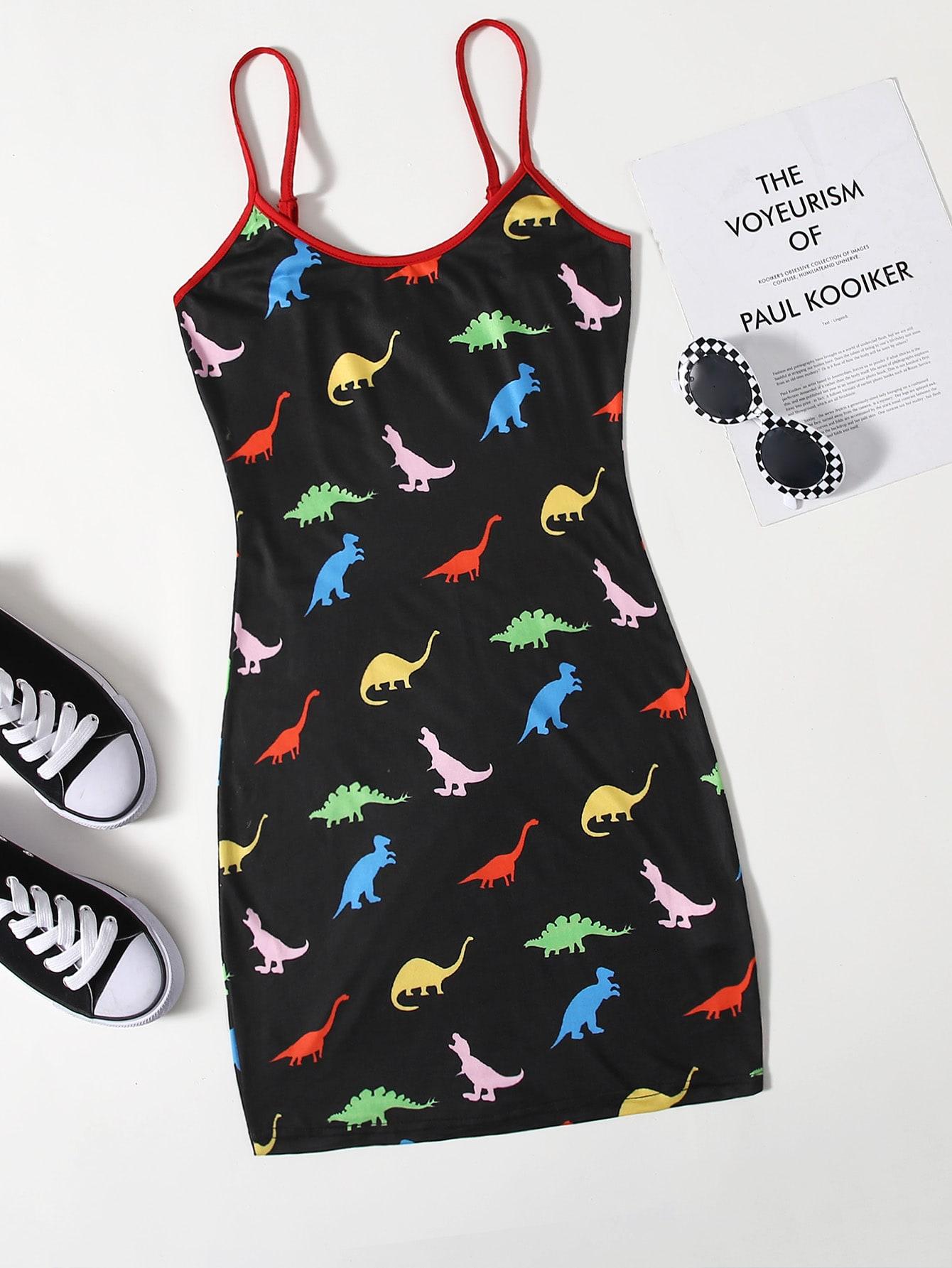 Dinosaur Print Mini Bodycon Dress thumbnail