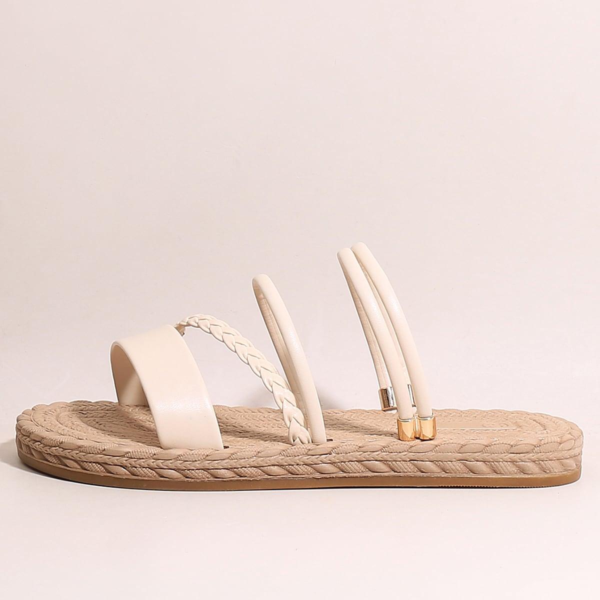 Минималистские плетеные сандалии