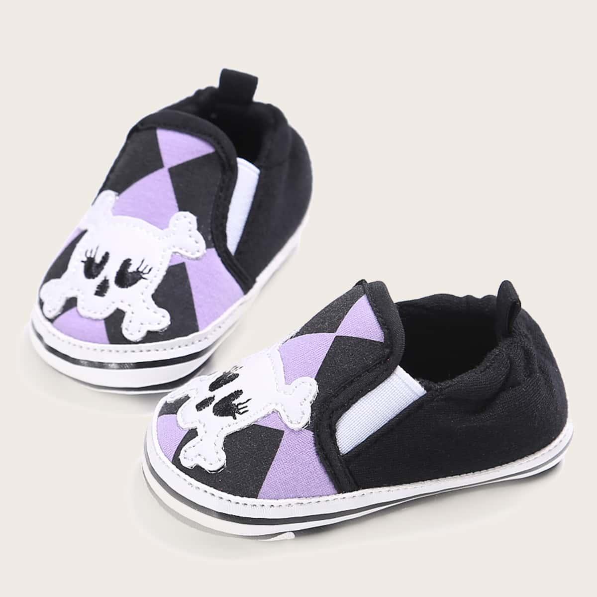 SHEIN Baby Boy Skull grafische instapsneakers