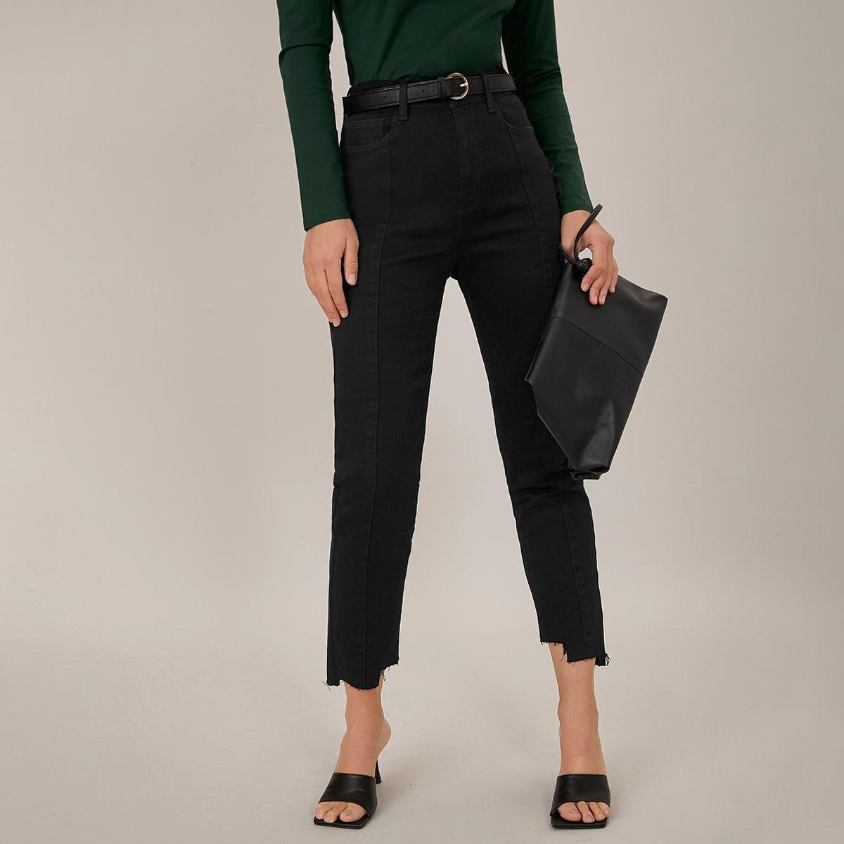 Короткие джинсы без пояса