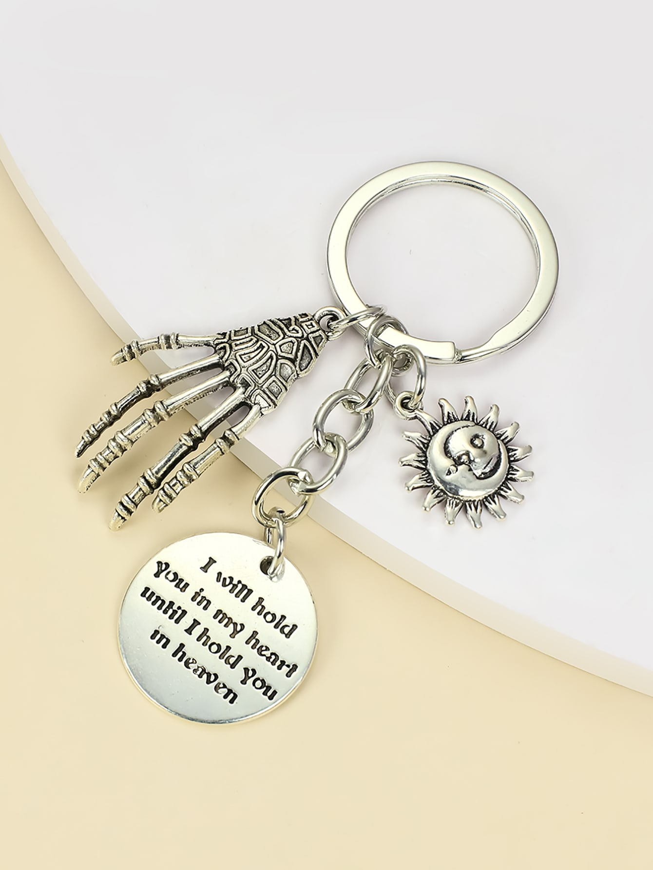 Skeleton Hand Charm Keychain thumbnail