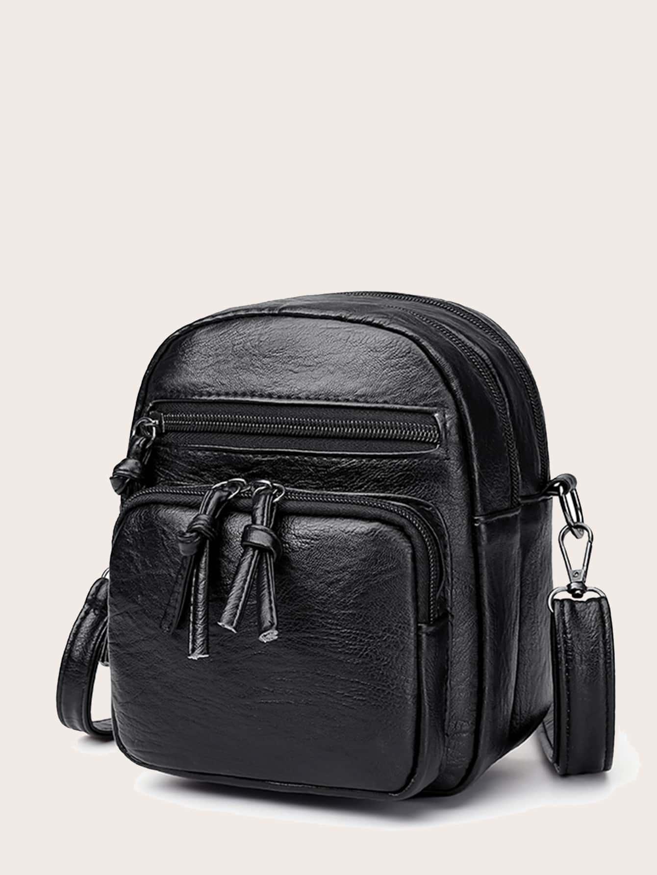 Minimalist Pocket Front Crossbody Bag thumbnail